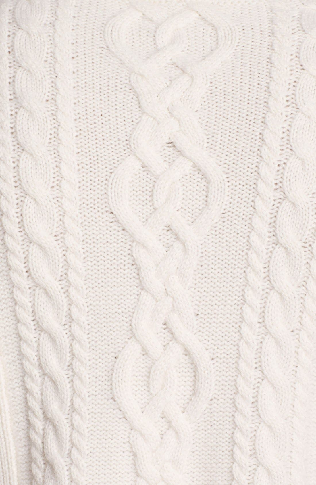Alternate Image 3  - Nordstrom Collection Cashmere Cable Pullover