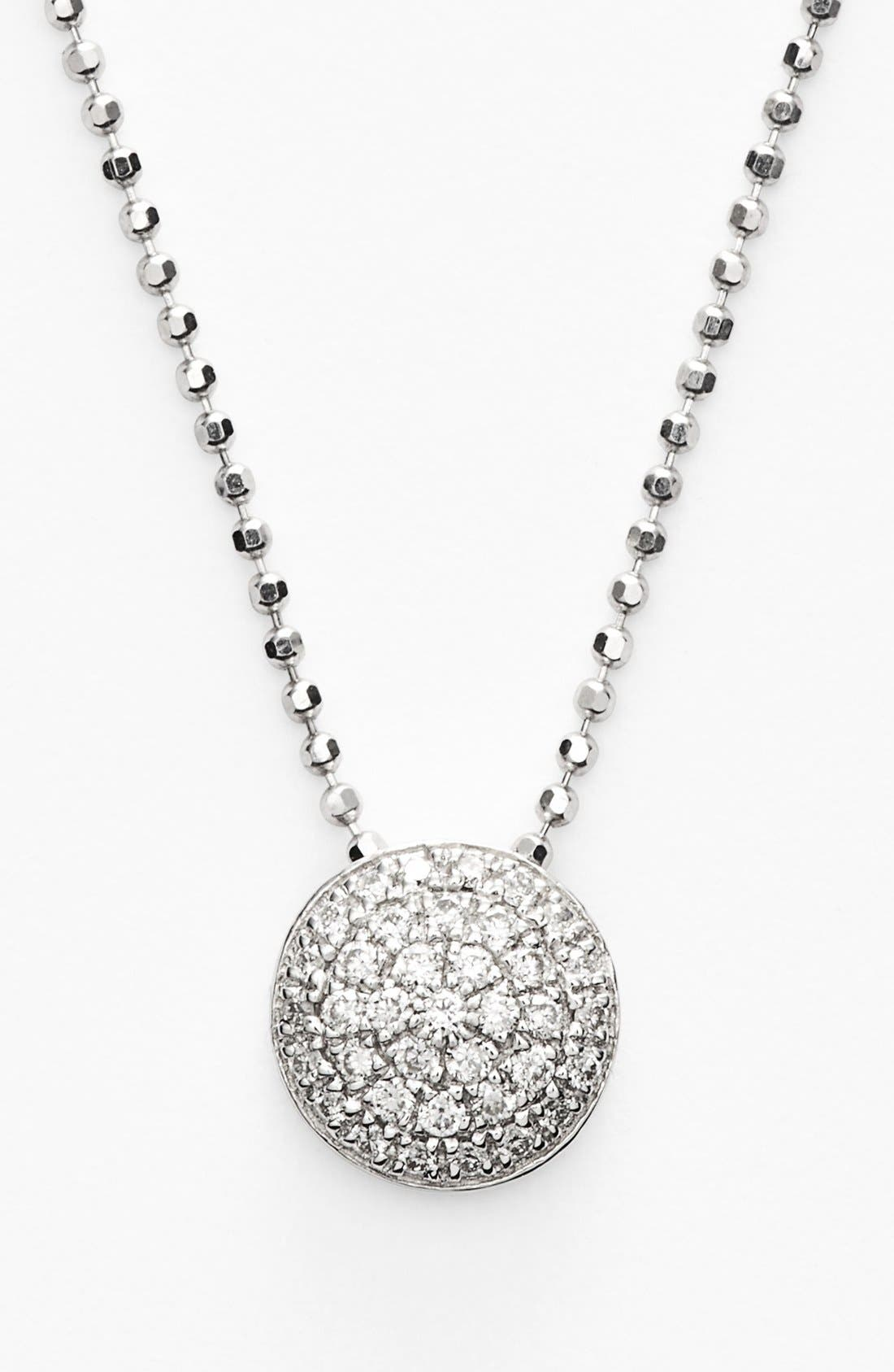 'Eclipse' Pavé Diamond Pendant Necklace,                         Main,                         color, White Gold
