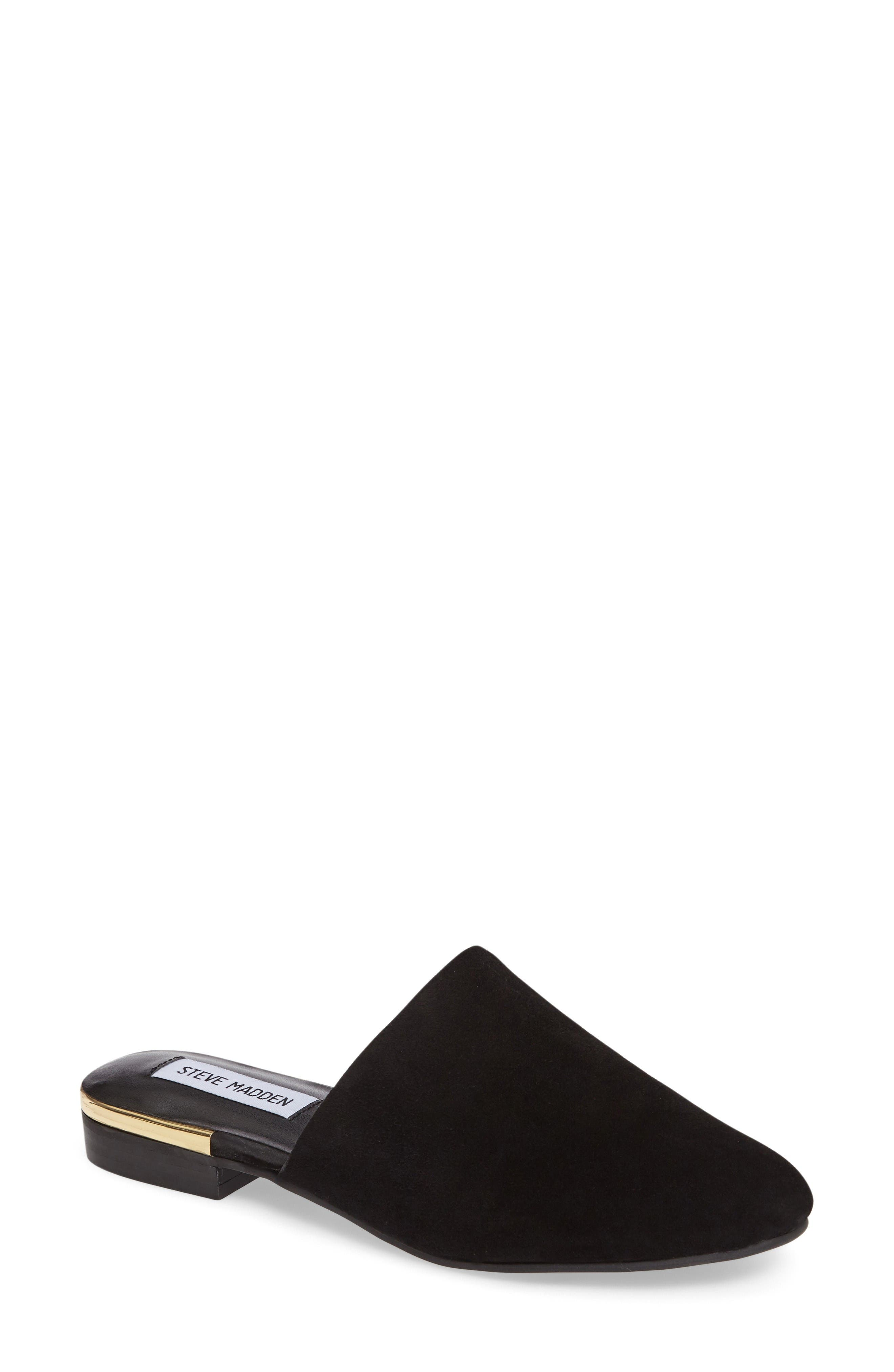 Snapp Mule,                         Main,                         color, Black Suede