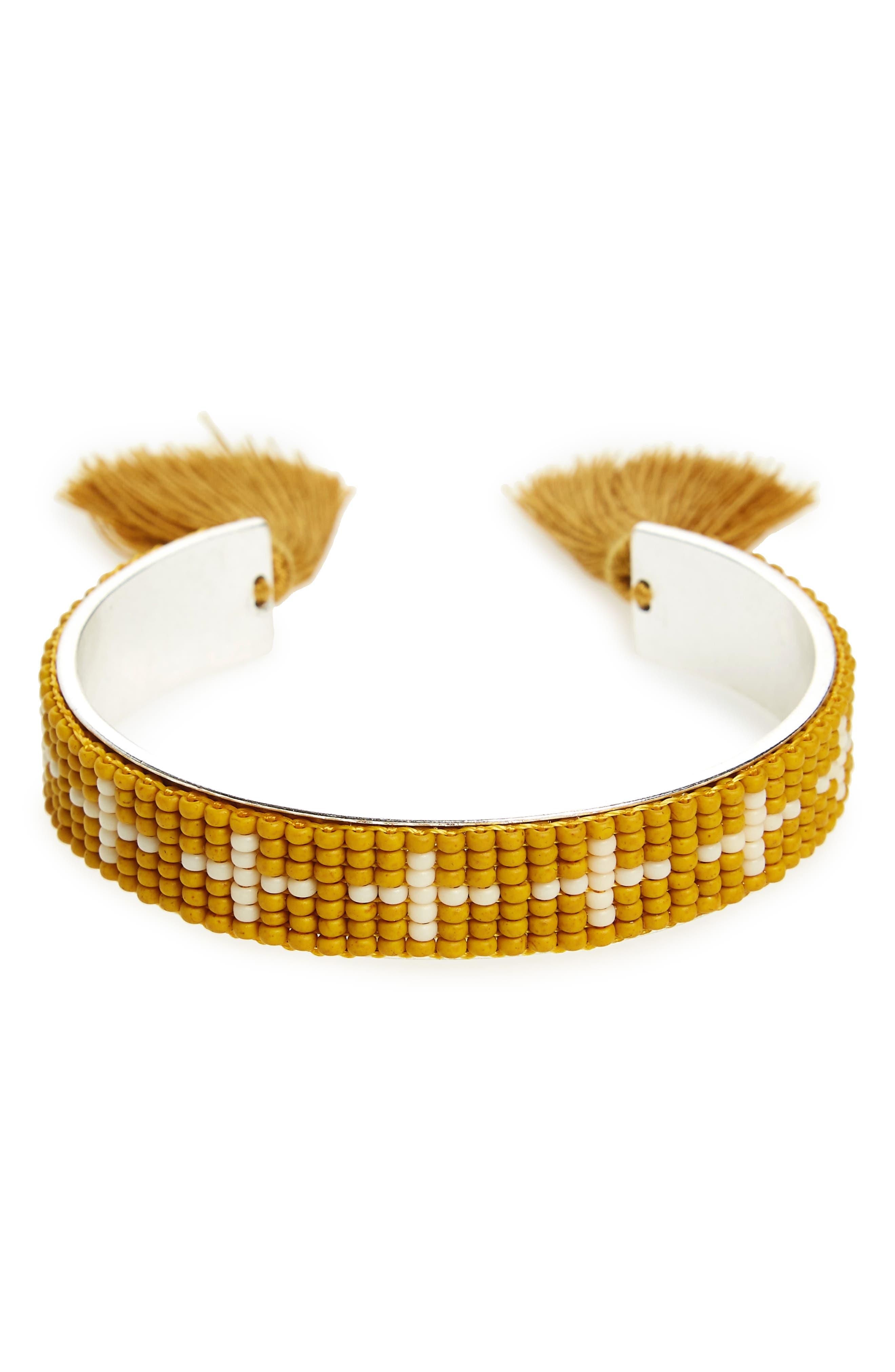 Main Image - Madewell Beaded Cuff Bracelet
