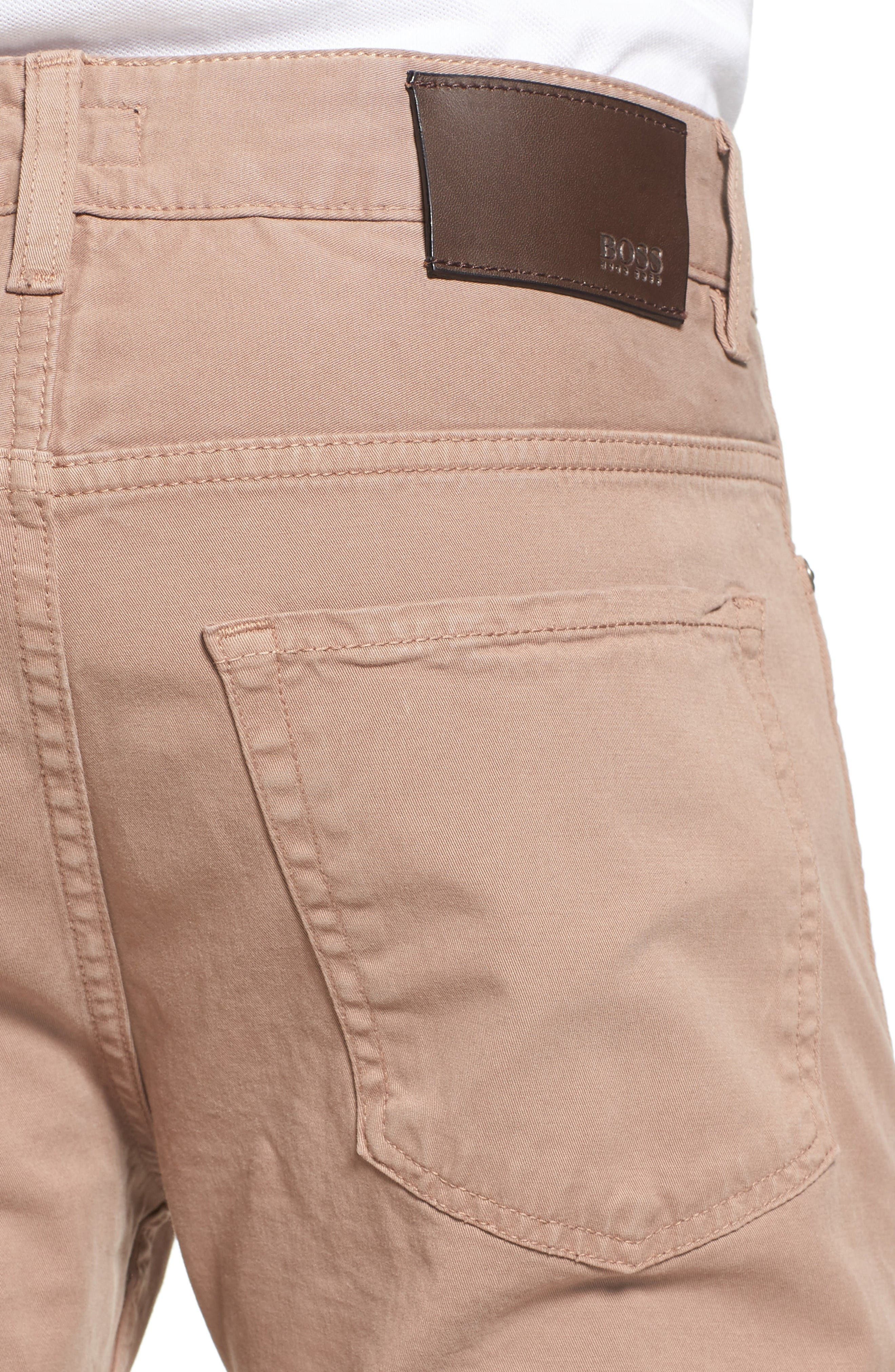 Delaware Slim Fit Stretch Cotton Pants,                             Alternate thumbnail 4, color,                             Khaki