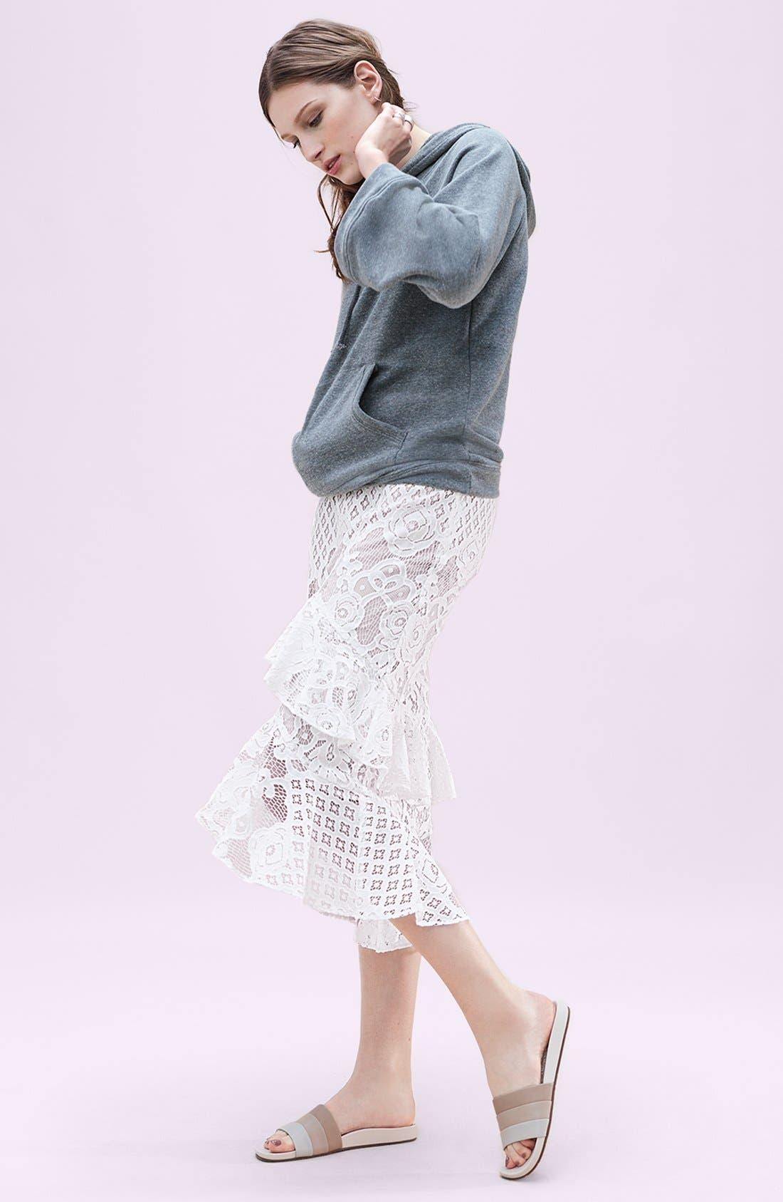 Alternate Image 2  - Chelsea28 Tiered Lace Midi Skirt