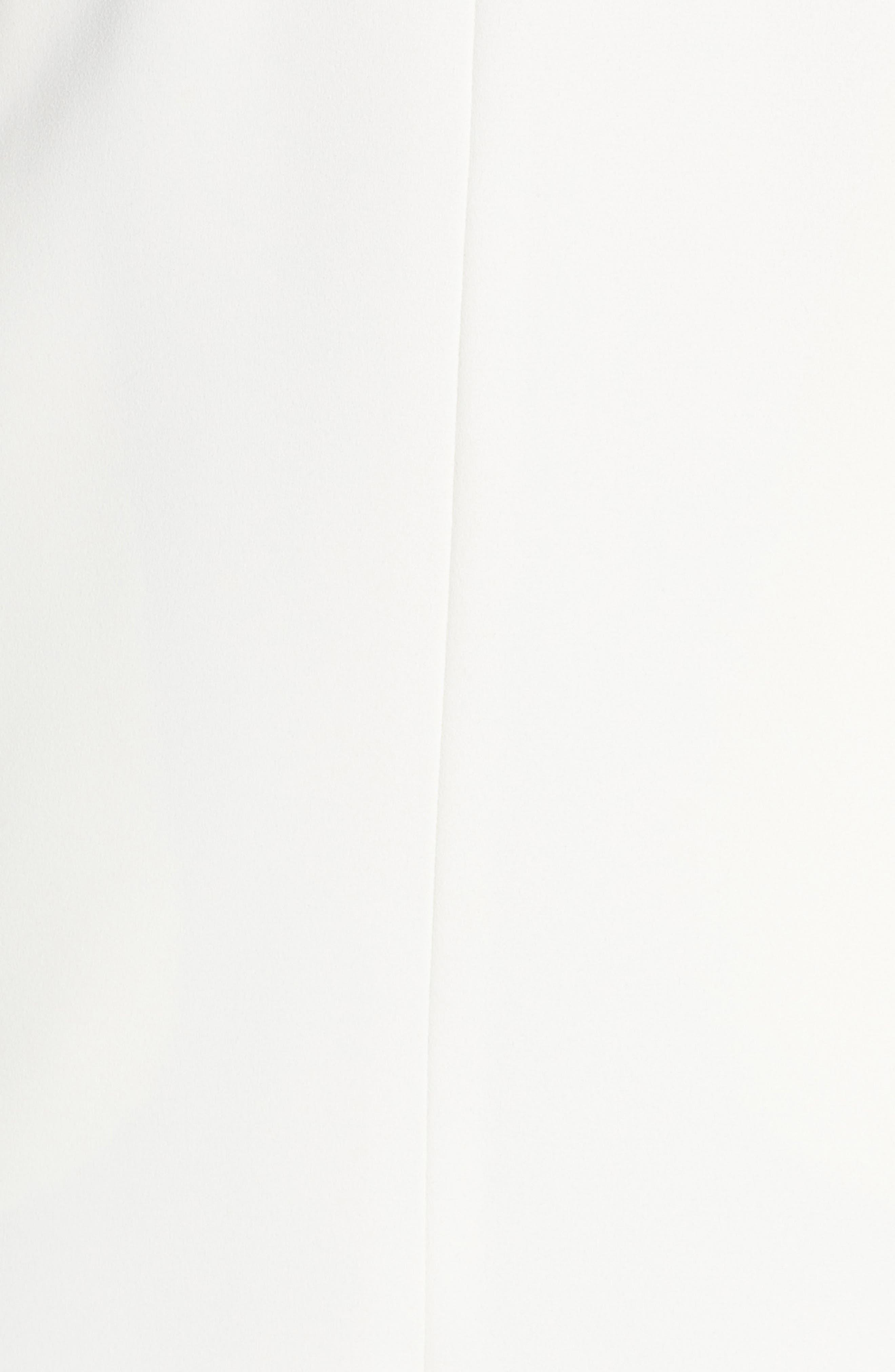 Crepe Midi Dress,                             Alternate thumbnail 5, color,                             Off White