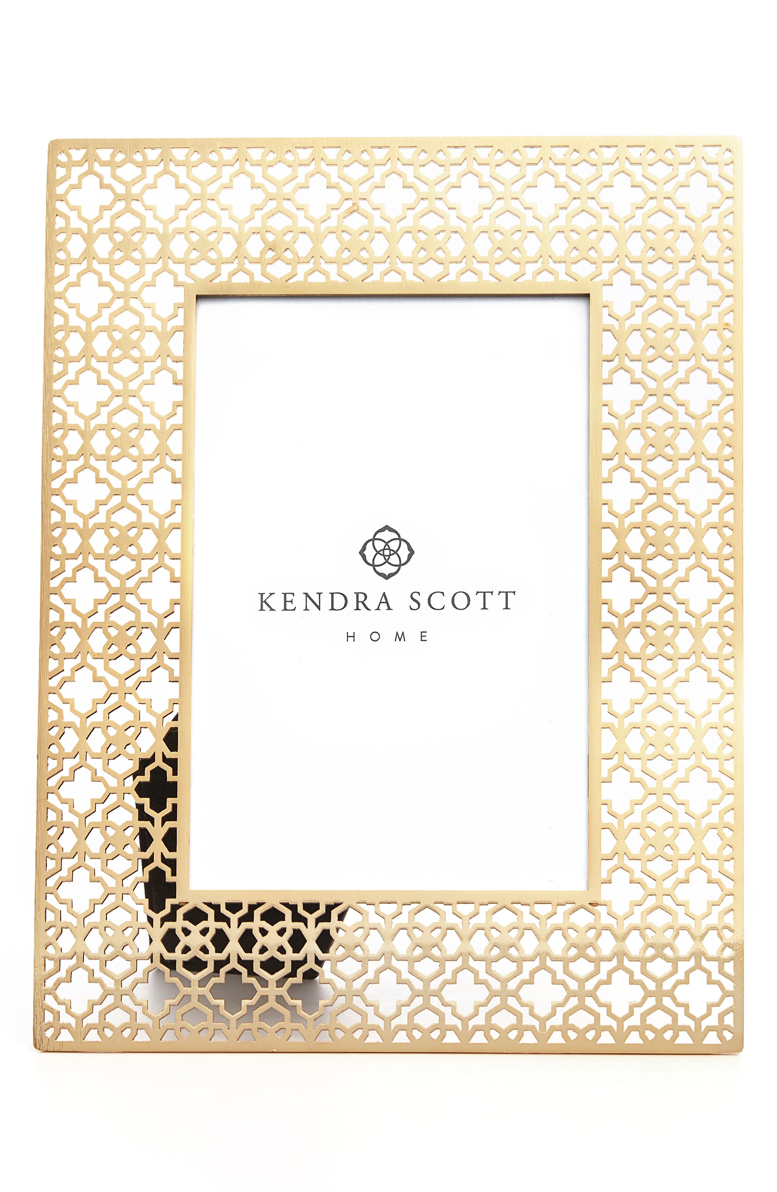 Filigree Picture Frame,                             Main thumbnail 1, color,                             Bright Brass