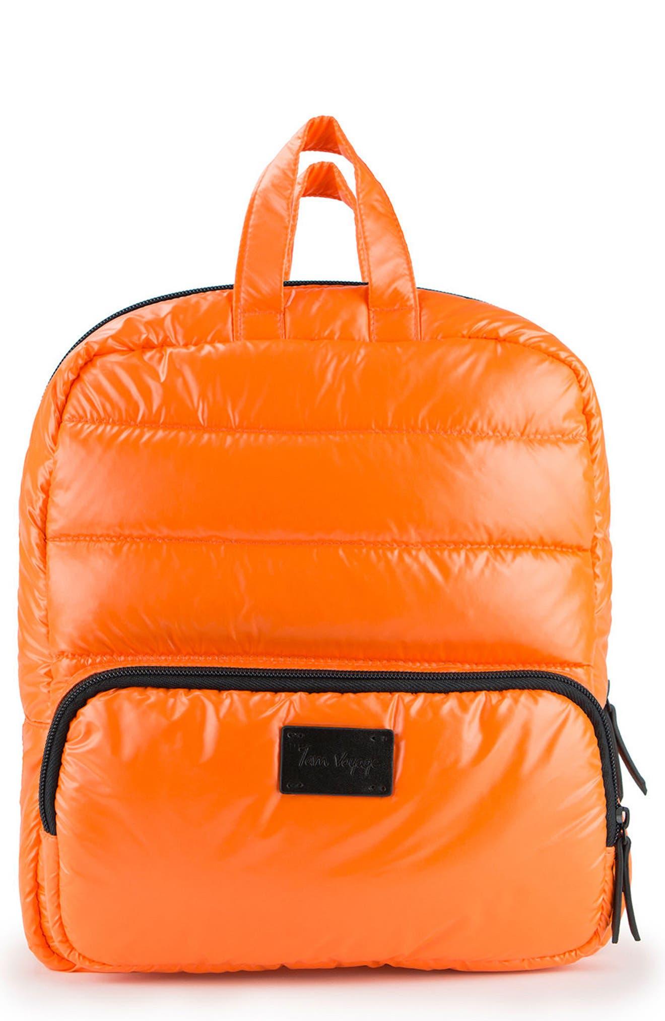 Mini Water Repellent Backpack,                         Main,                         color, Tangerine