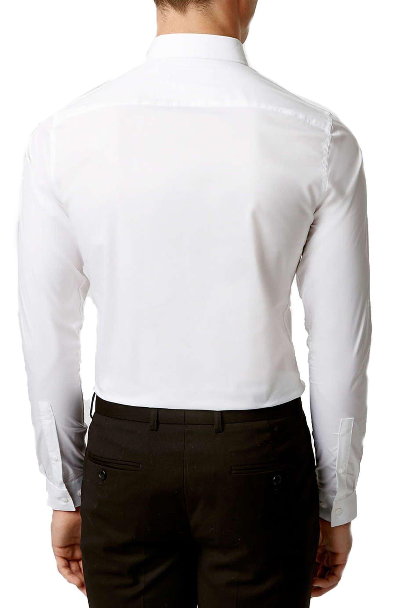 Long Sleeve Woven Shirt,                             Alternate thumbnail 3, color,                             White