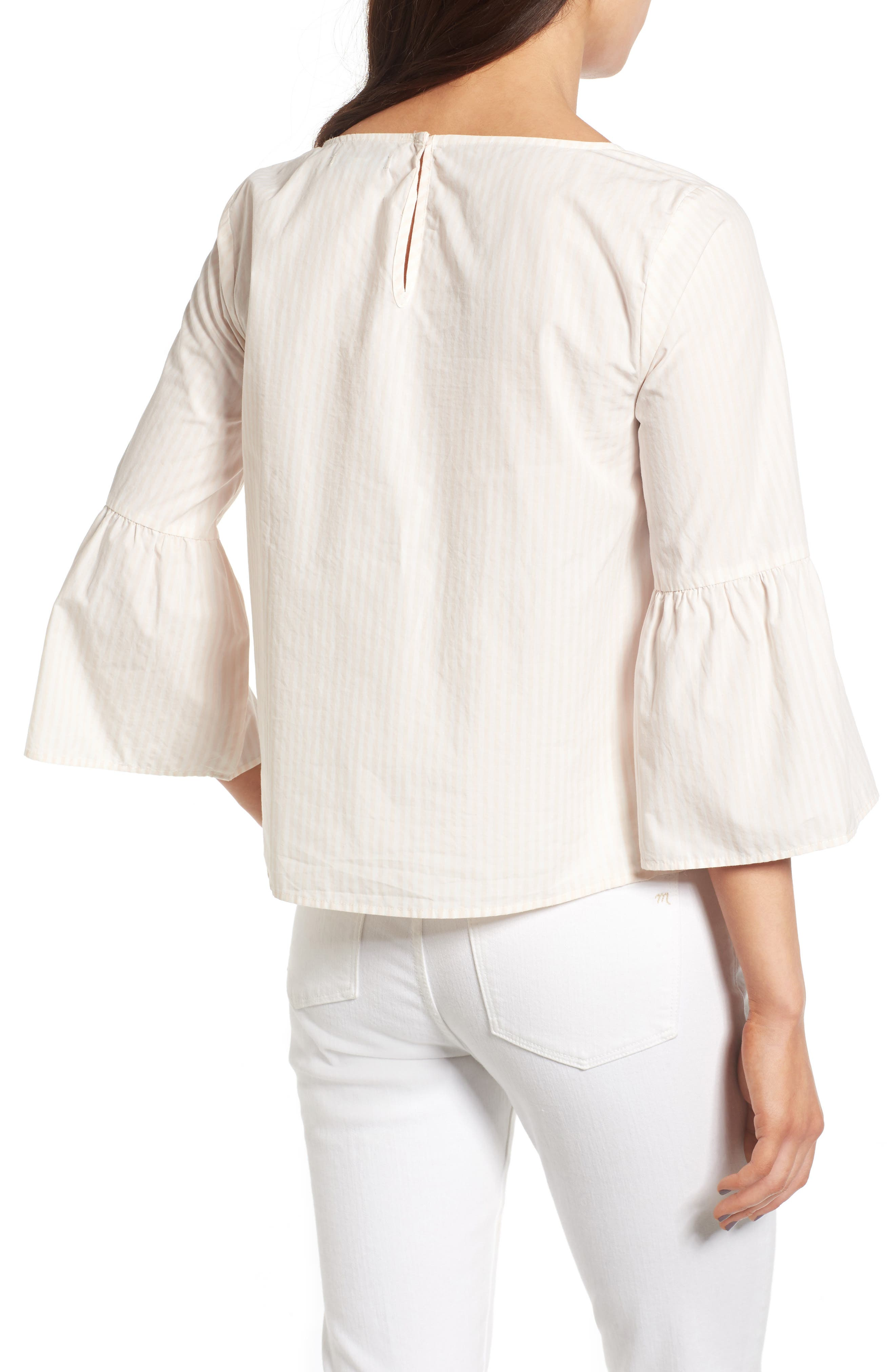 Alternate Image 2  - Madewell Bell Sleeve Cotton Top