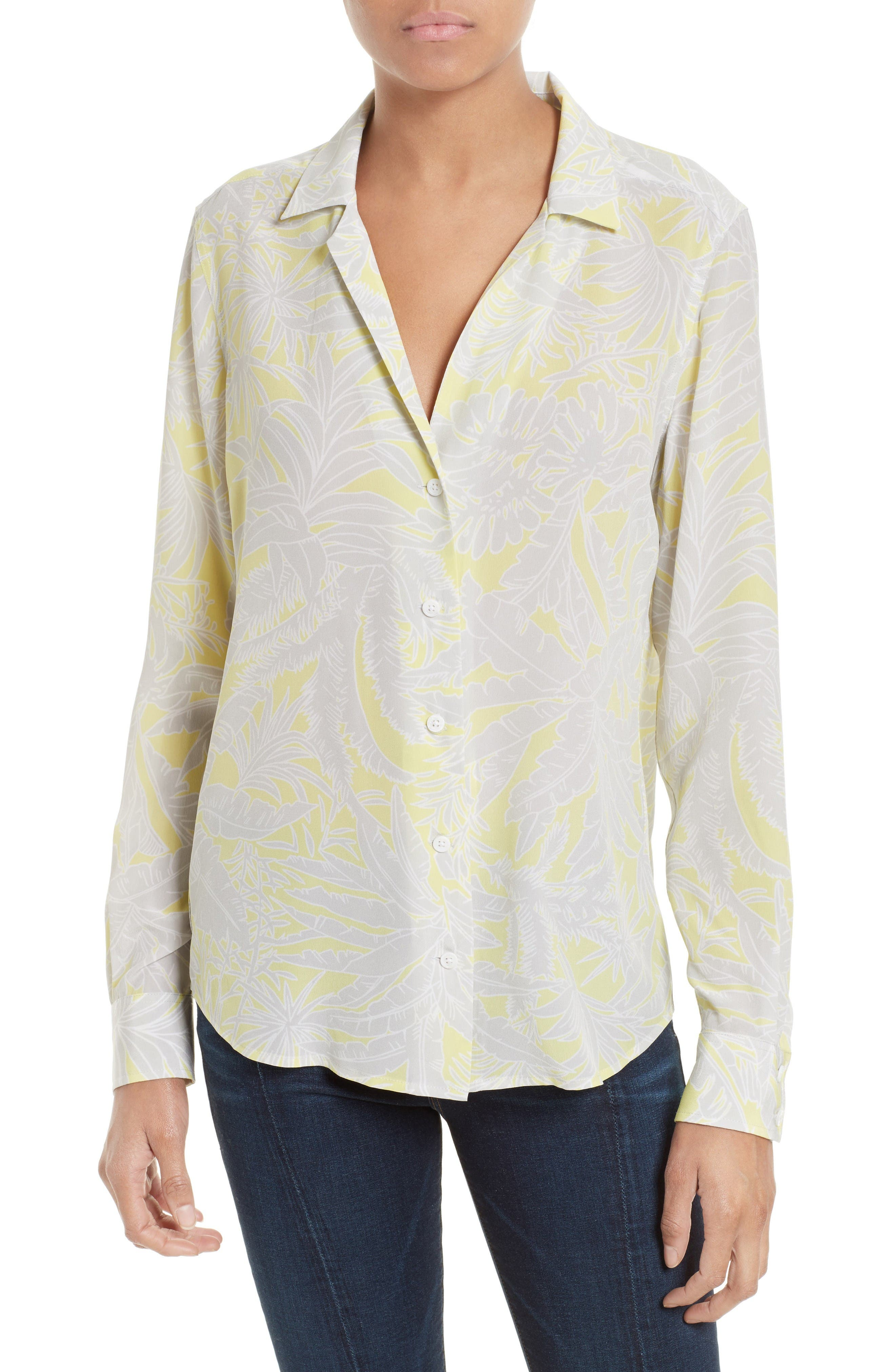Equipment Adalyn Print Silk Shirt