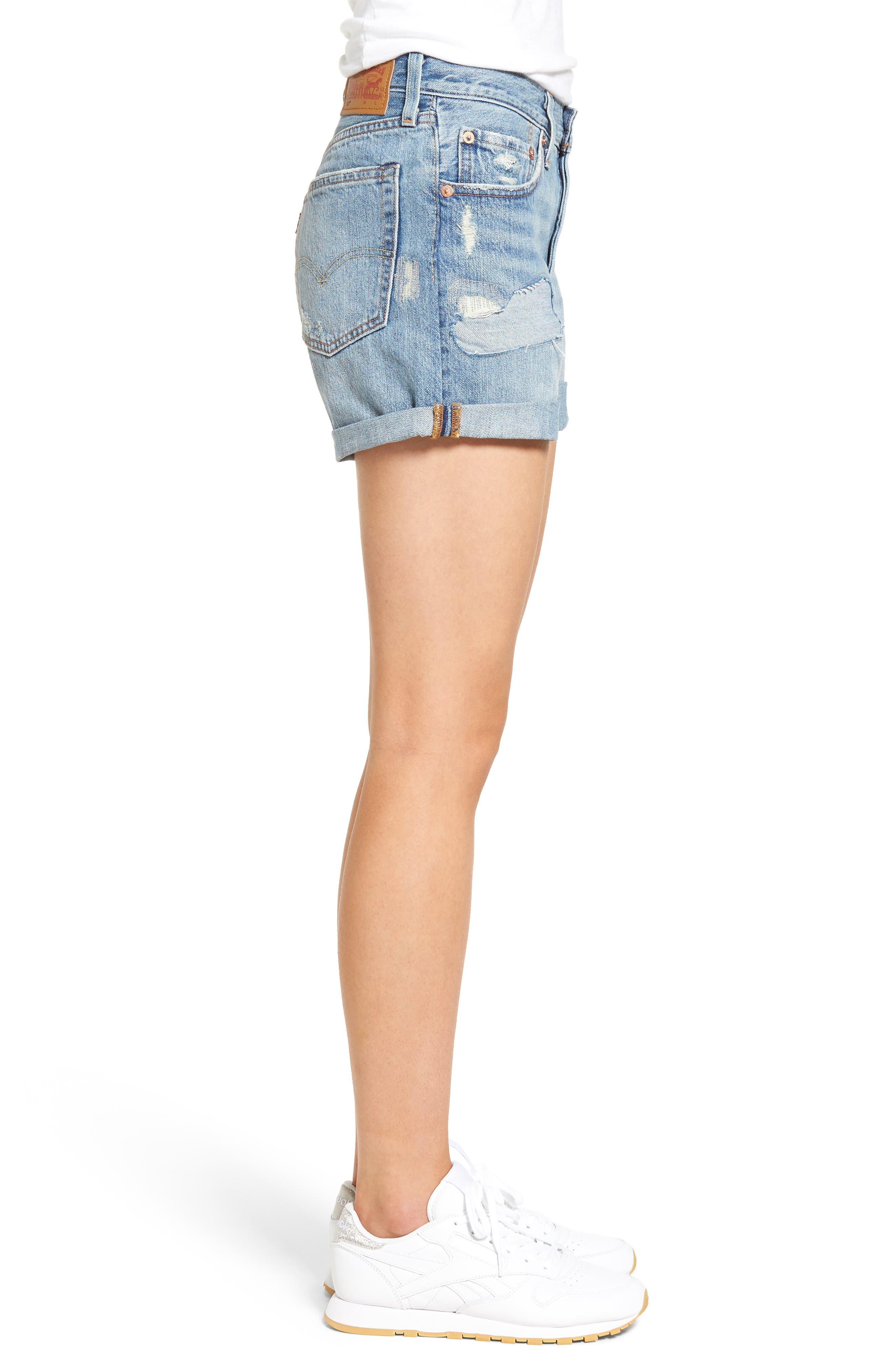 Alternate Image 4  - Levi's® 501 Long Denim Shorts