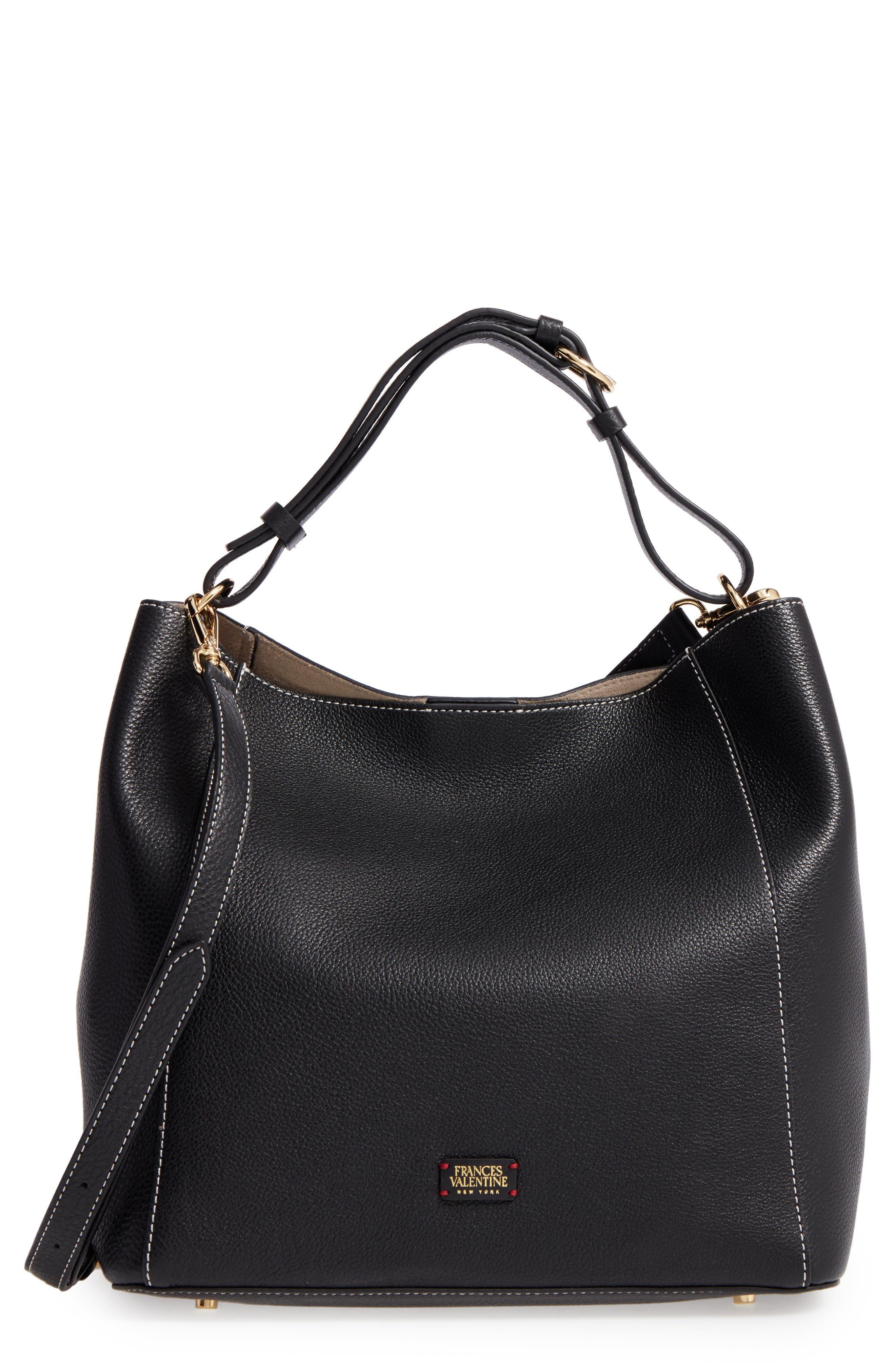 Frances Valentine Medium June Leather Hobo Bag