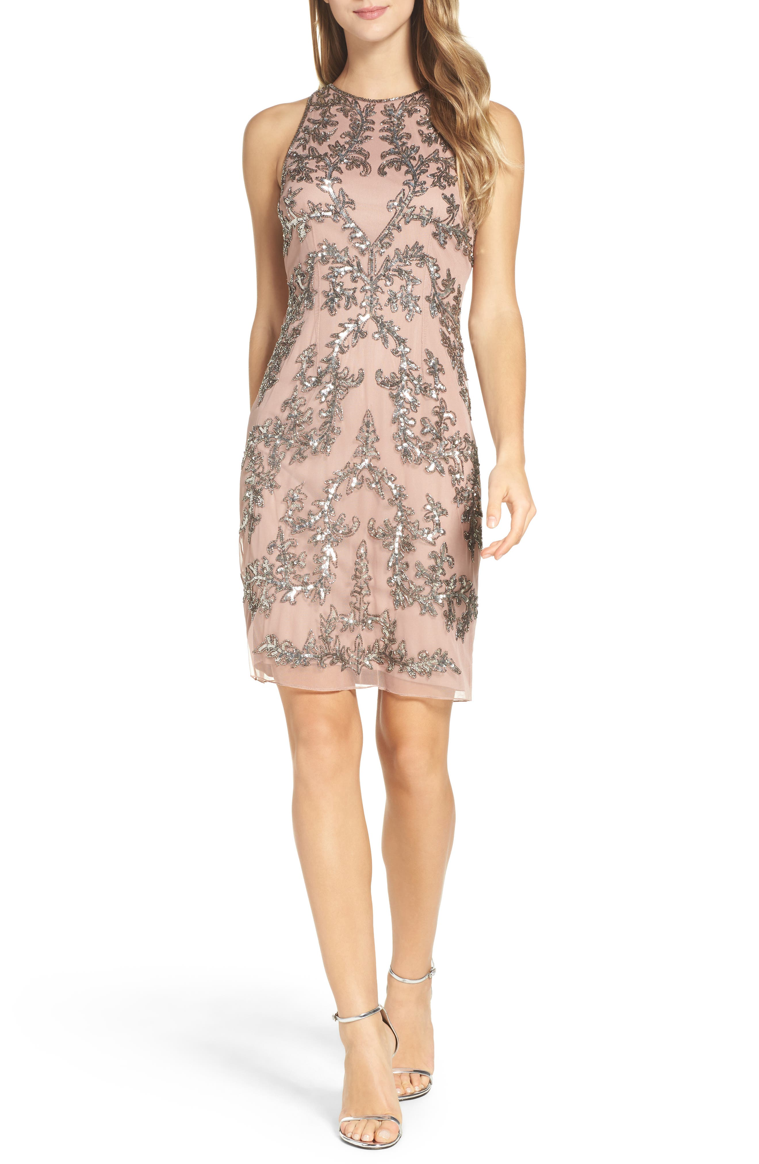 Alternate Image 4  - Adrianna Papell Embellished Chiffon Sheath Dress