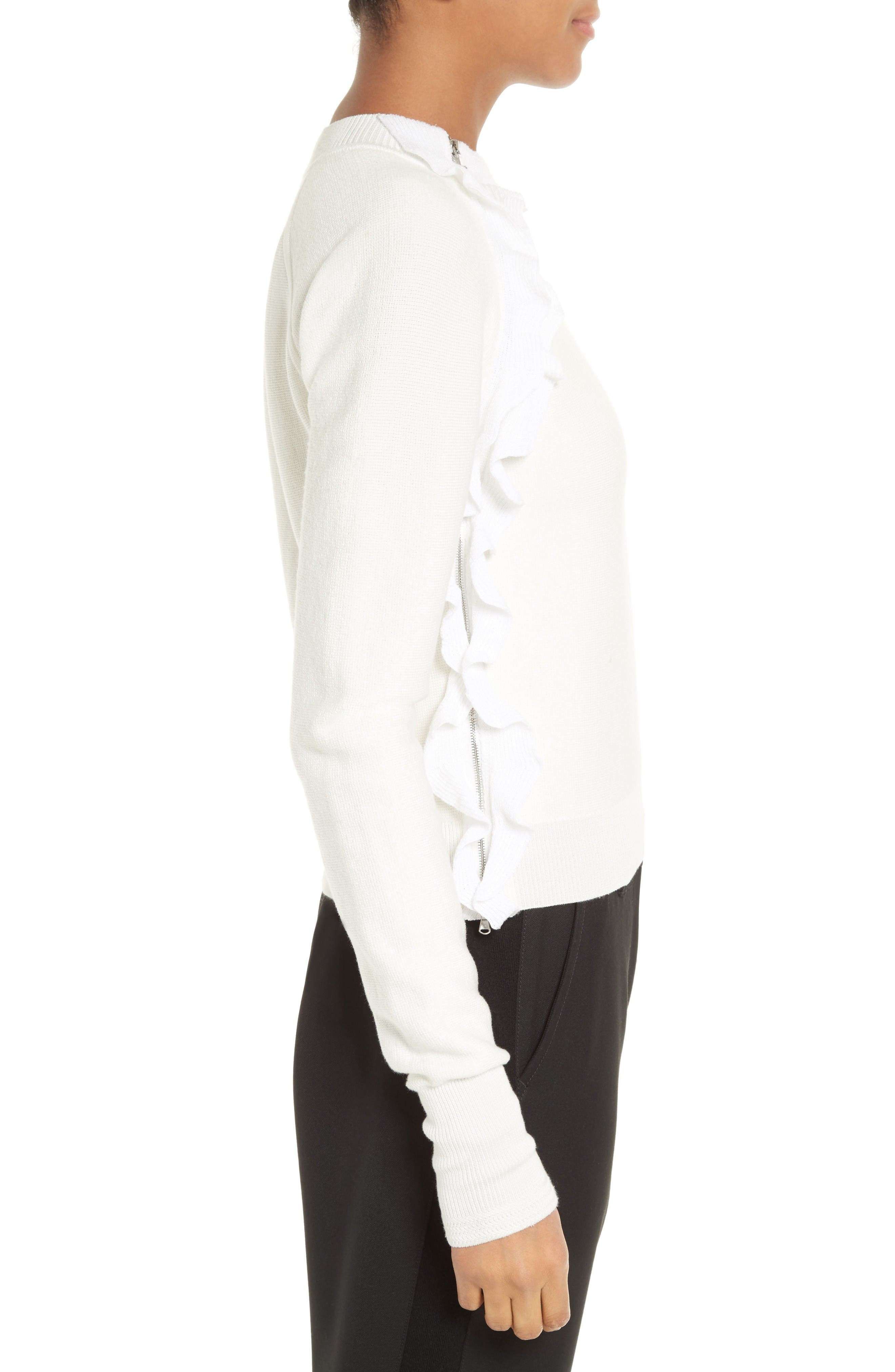 Alternate Image 3  - 3.1 Phillip Lim Ruffle Front Zip Pullover