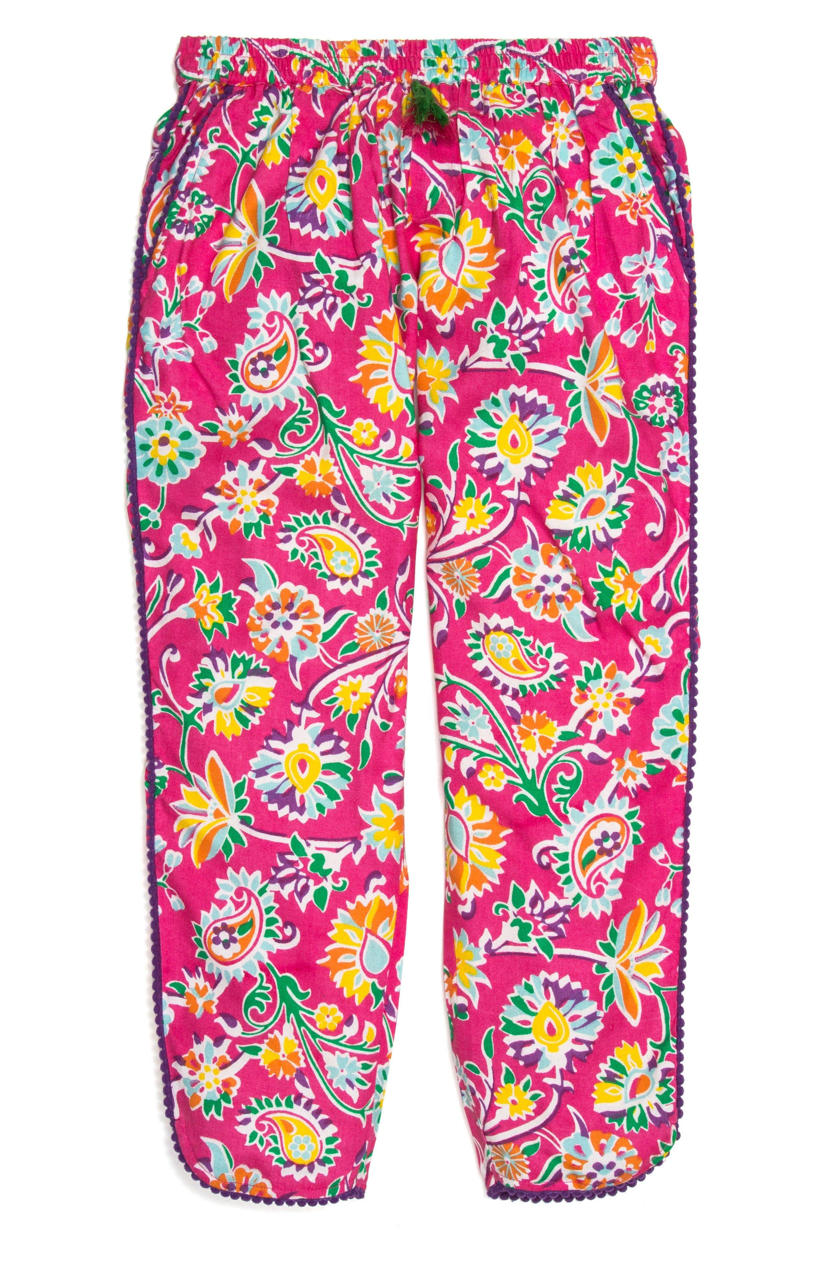 Main Image - Masalababy Boondi Floral Print Pants (Toddler Girls, Little Girls & Big Girls)