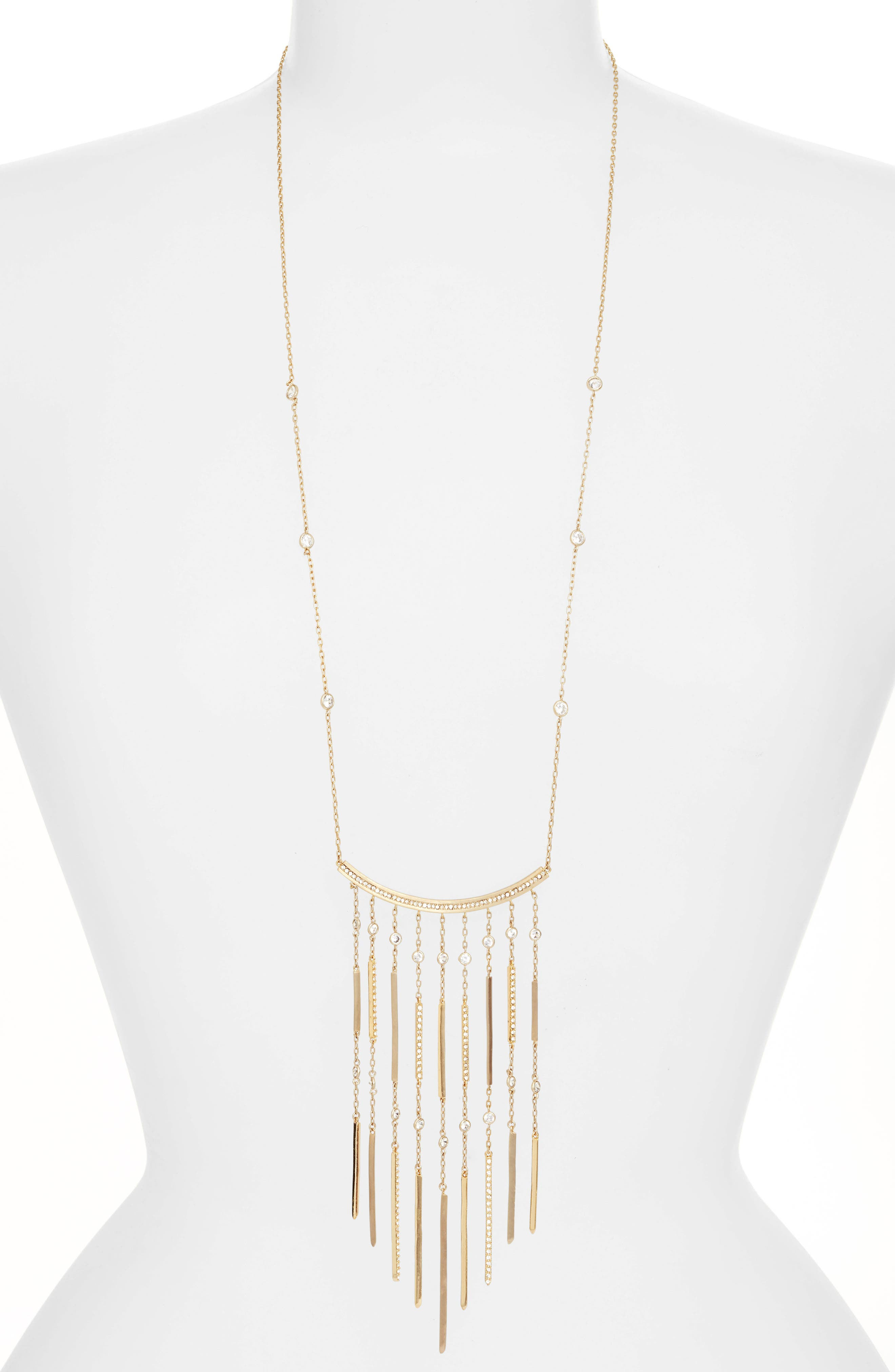 Alternate Image 1 Selected - Jenny Packham Fringe Pendant Necklace
