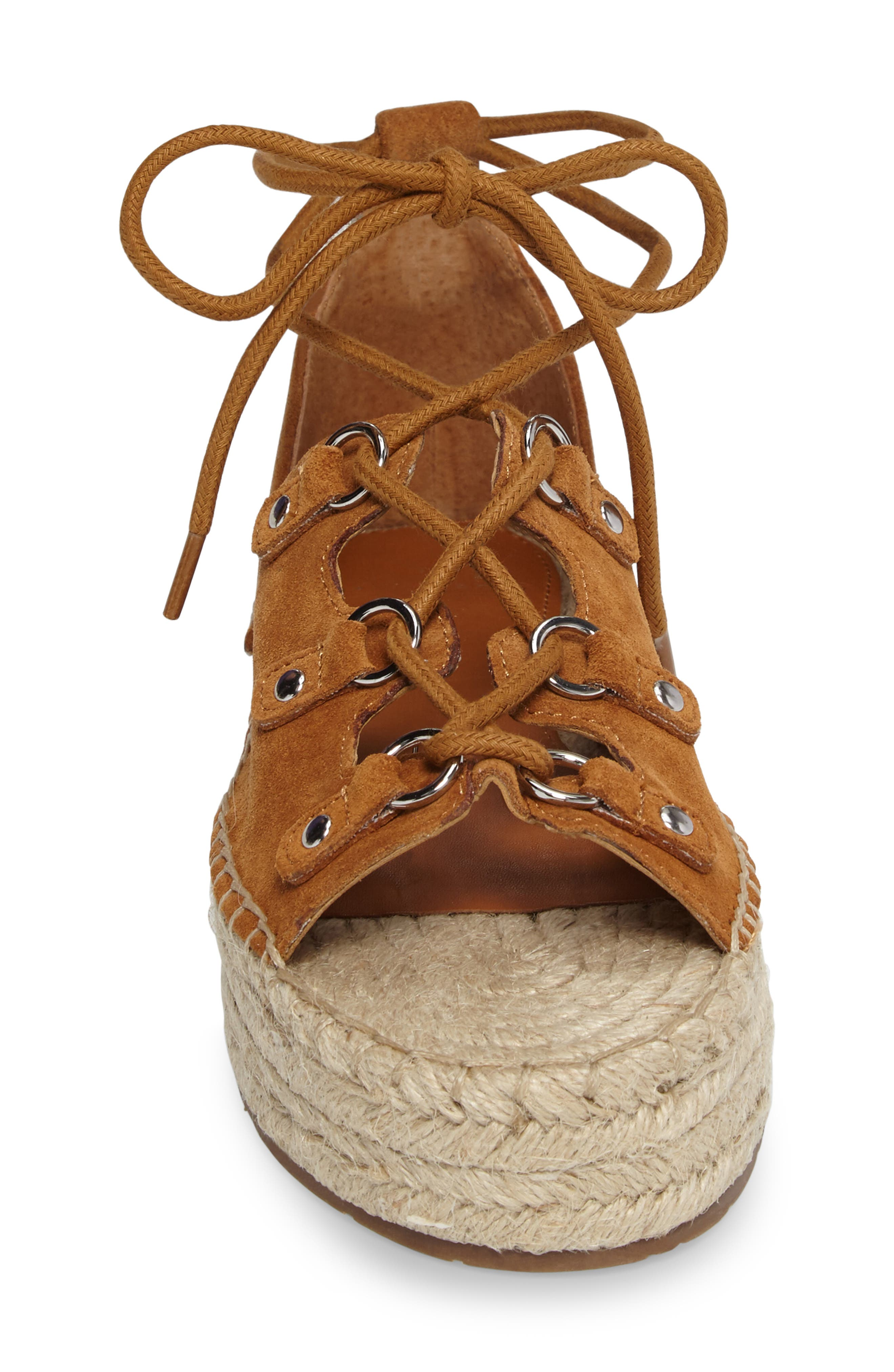 Alternate Image 3  - Marc Fisher LTD Vally Lace-Up Platform Espadrille (Women)