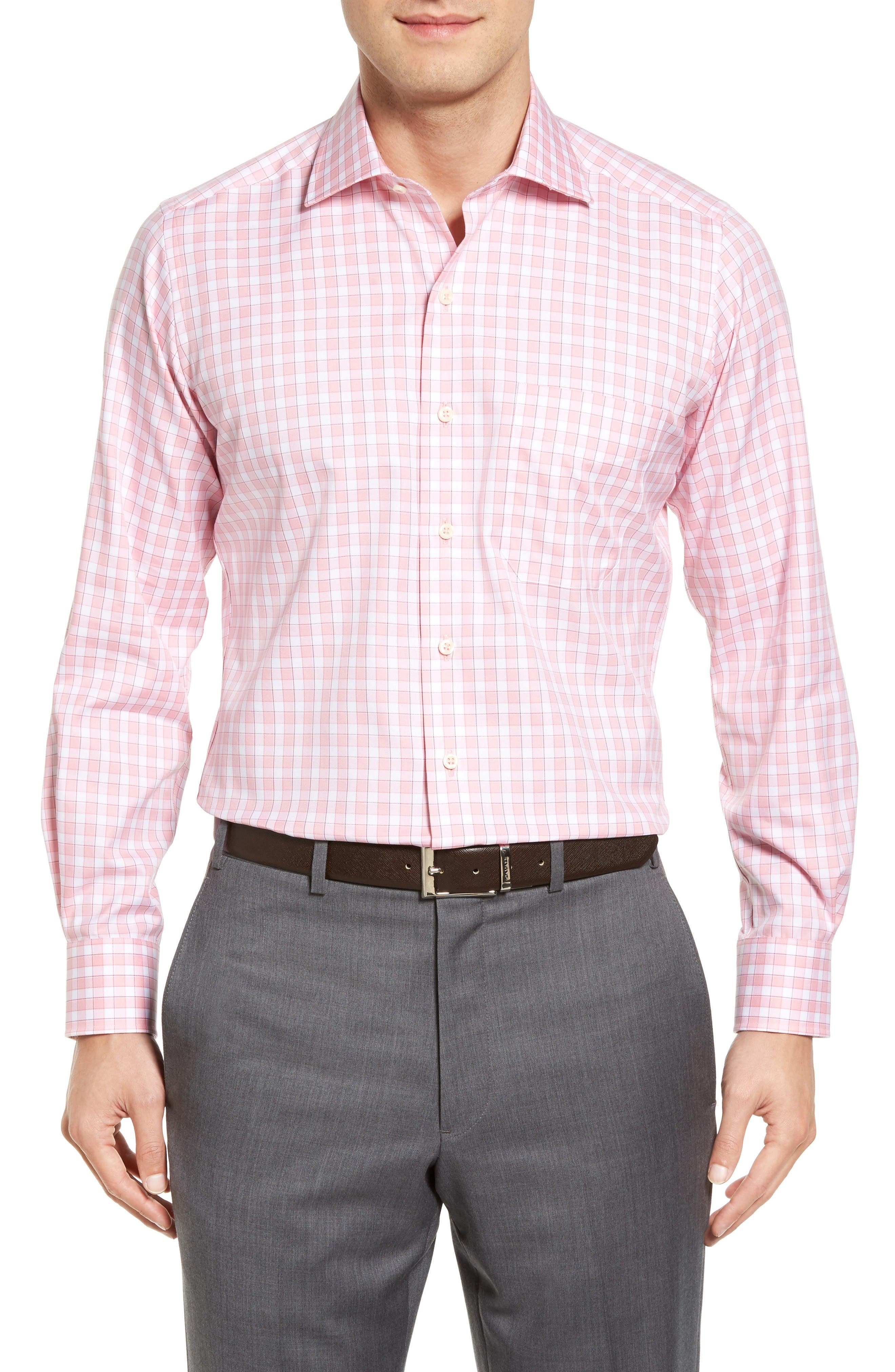 David Donahue Check Sport Shirt