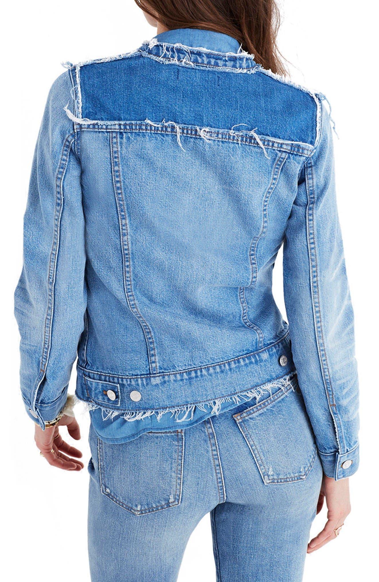 Alternate Image 2  - Madewell Distressed Denim Jacket