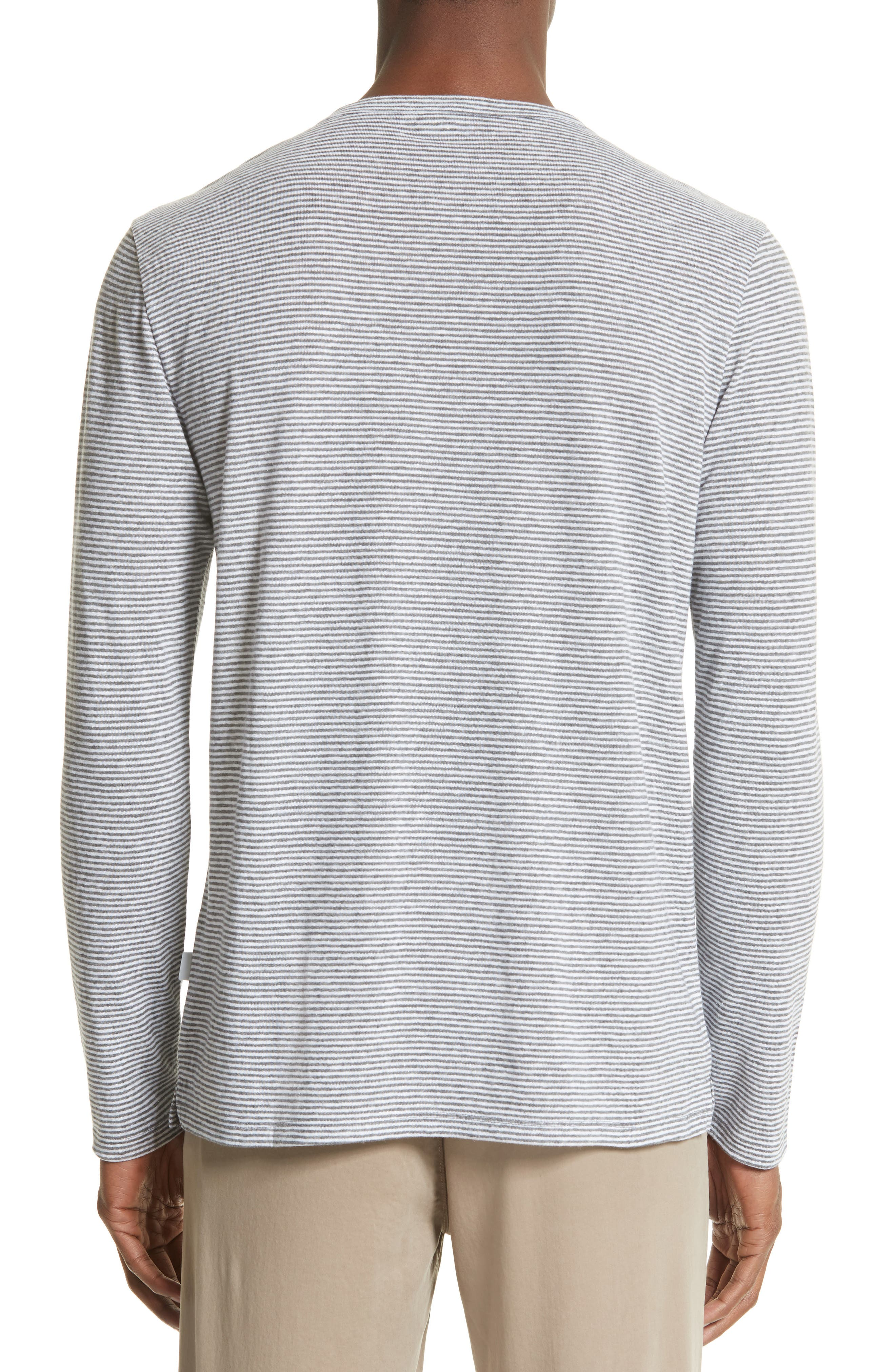 Alternate Image 2  - ONIA Linen Blend Stripe Henley