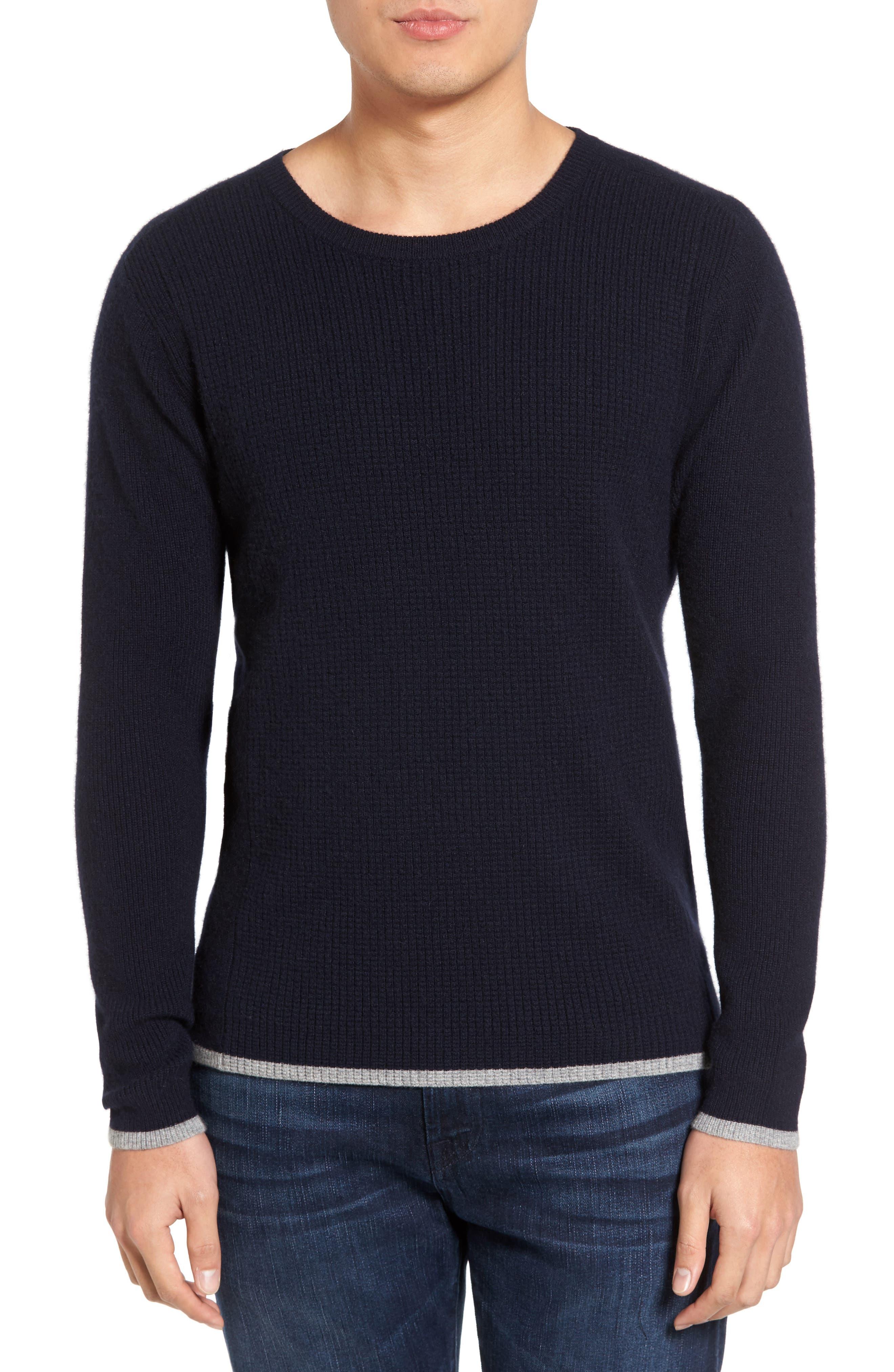 Velvet by Graham & Spencer Jagger01 Tipped Cashmere Sweater