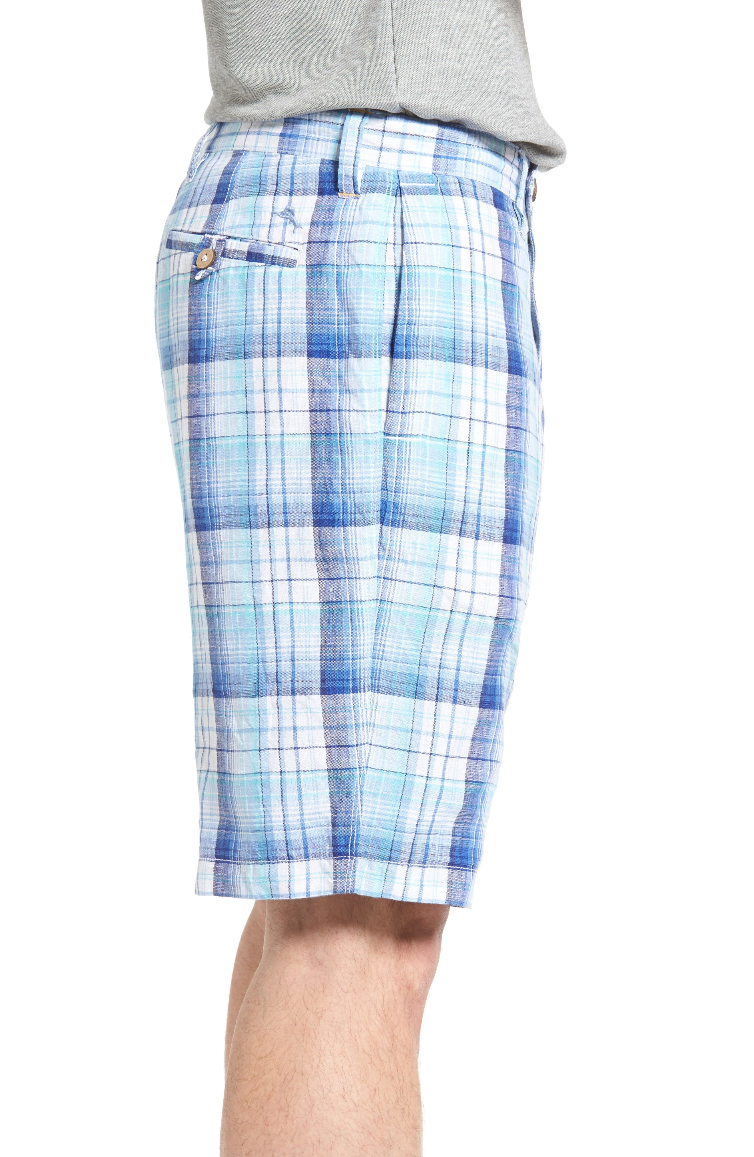 Island Duo Reversible Linen Shorts,                             Alternate thumbnail 3, color,                             Old Royal