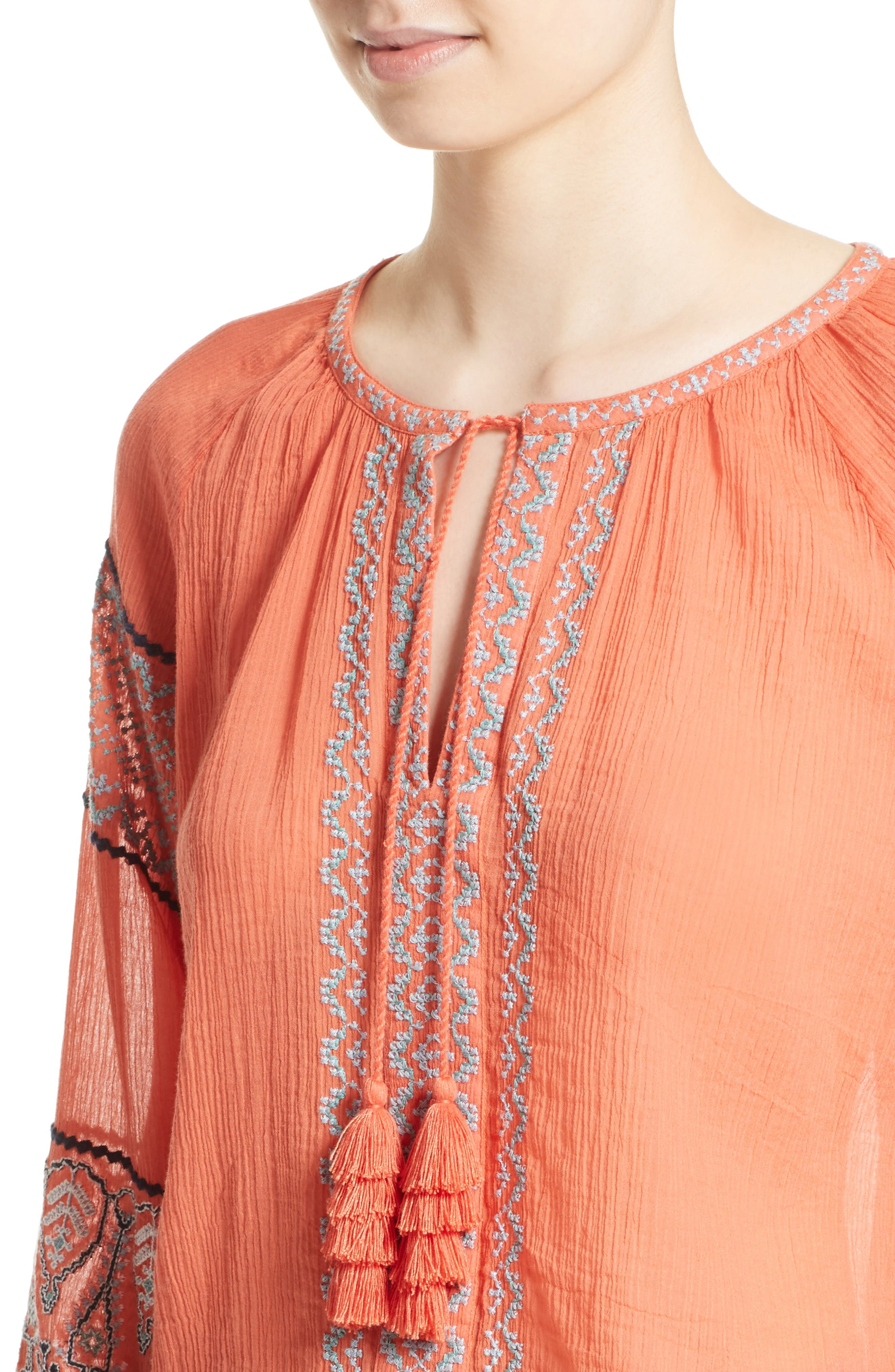 Alternate Image 4  - Joie Nelida Embroidered Cotton Blouse