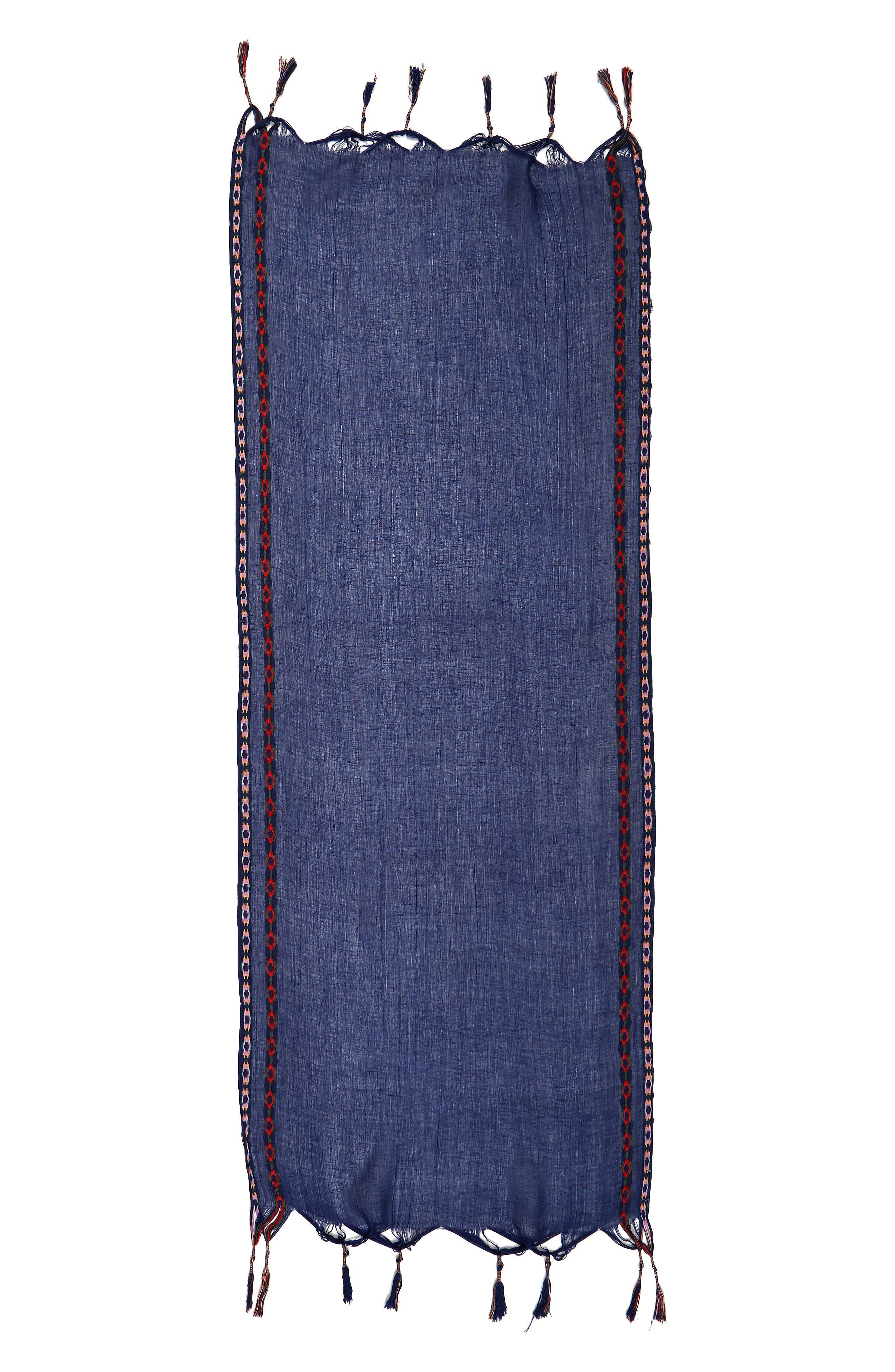 Alternate Image 2  - Shiraleah Arabella Embroidered Tassel Scarf