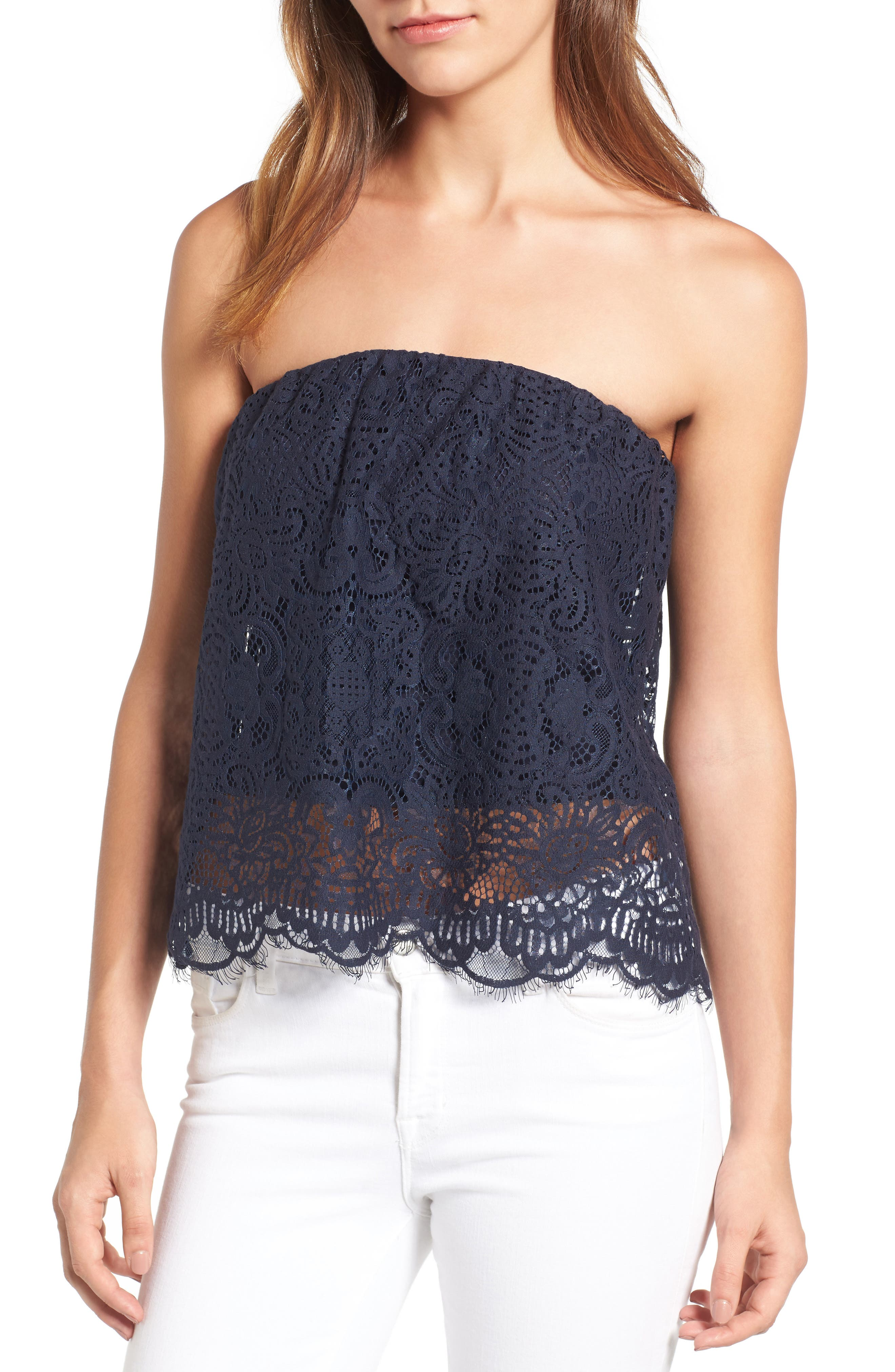 Main Image - Chelsea28 Strapless Lace Top