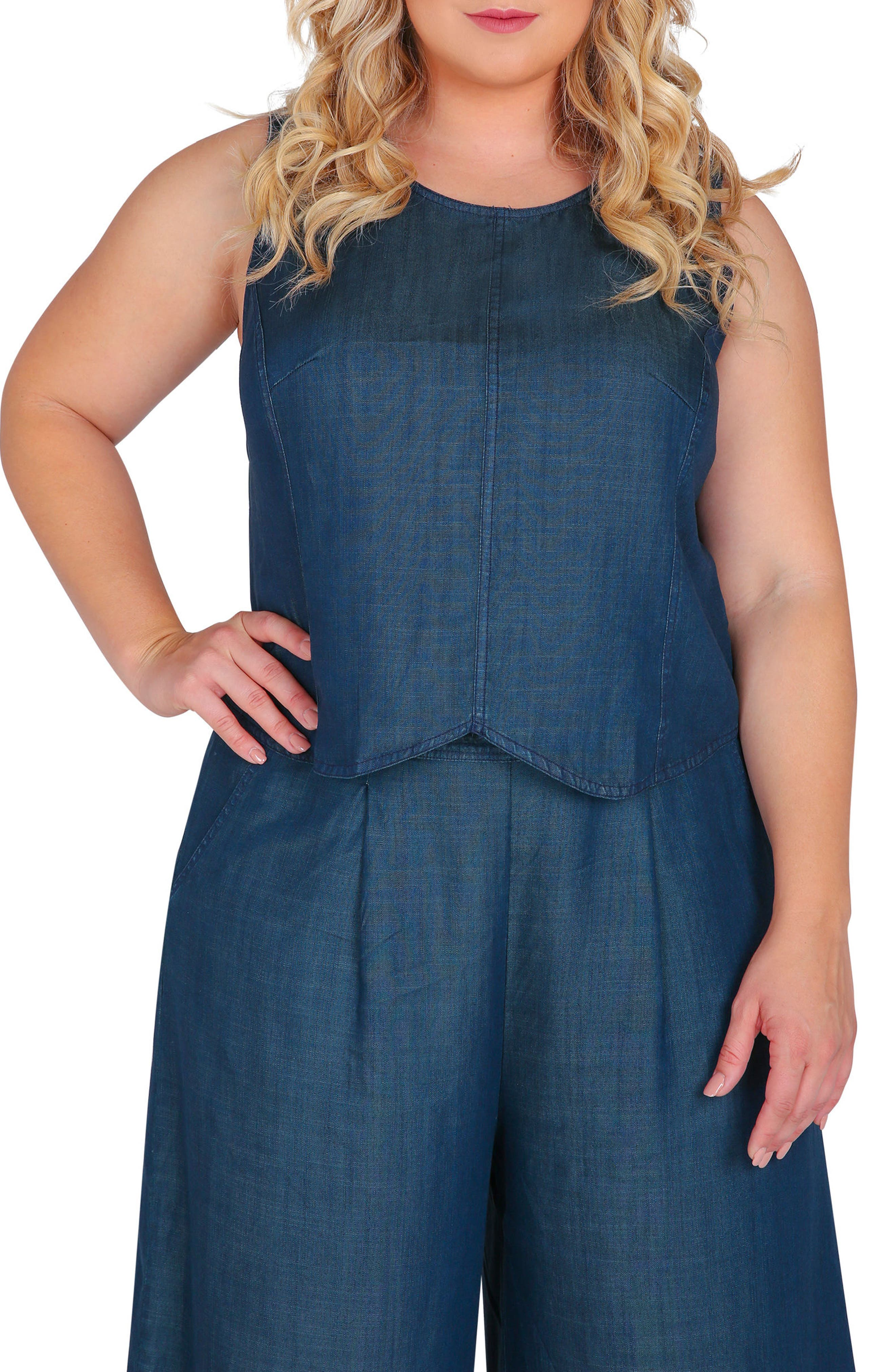 Lidia Tencel<sup>®</sup> Skimmer Top,                         Main,                         color, Blue
