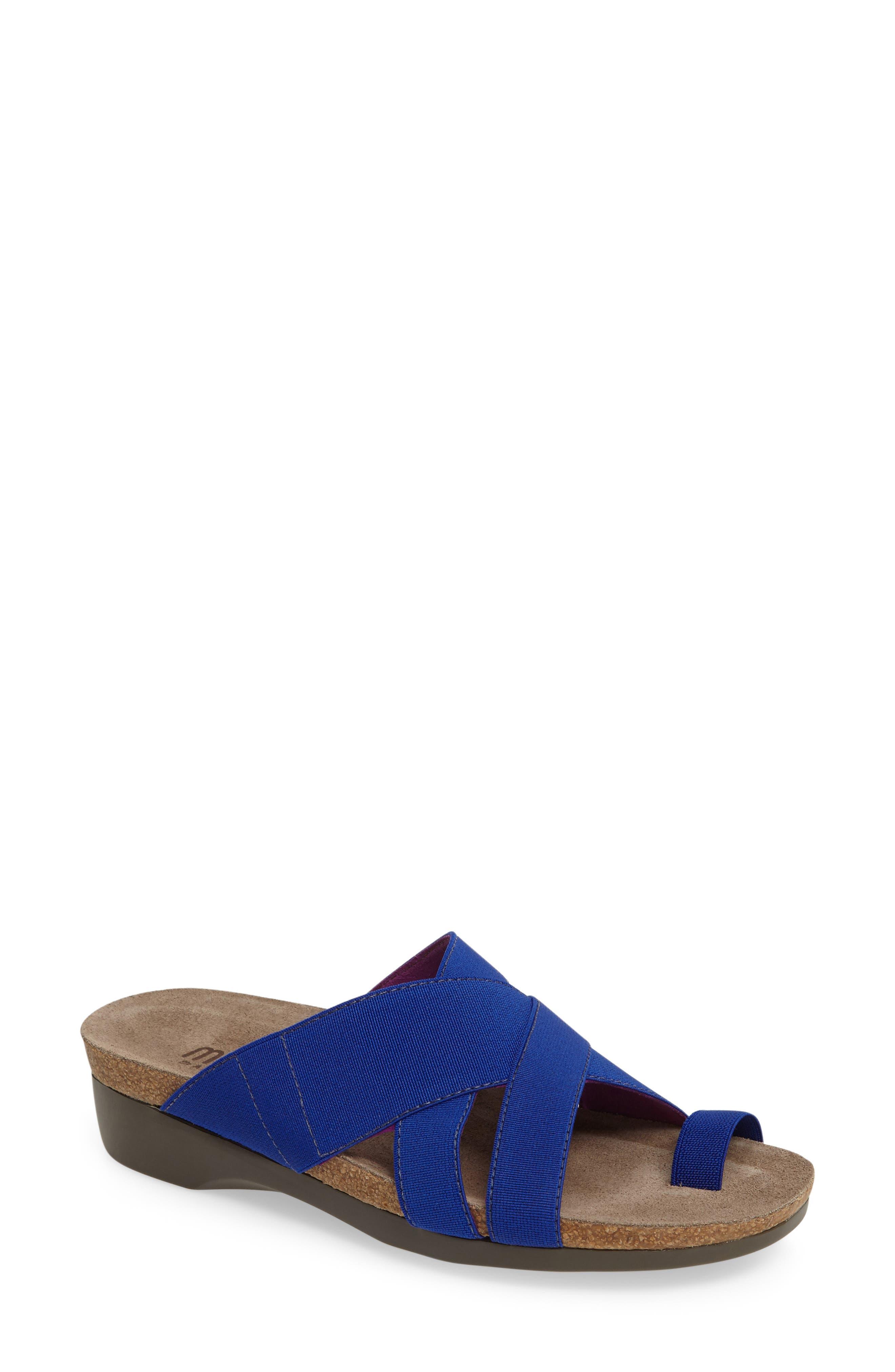 Delphi Slide Sandal,                             Main thumbnail 1, color,                             Blue Fabric