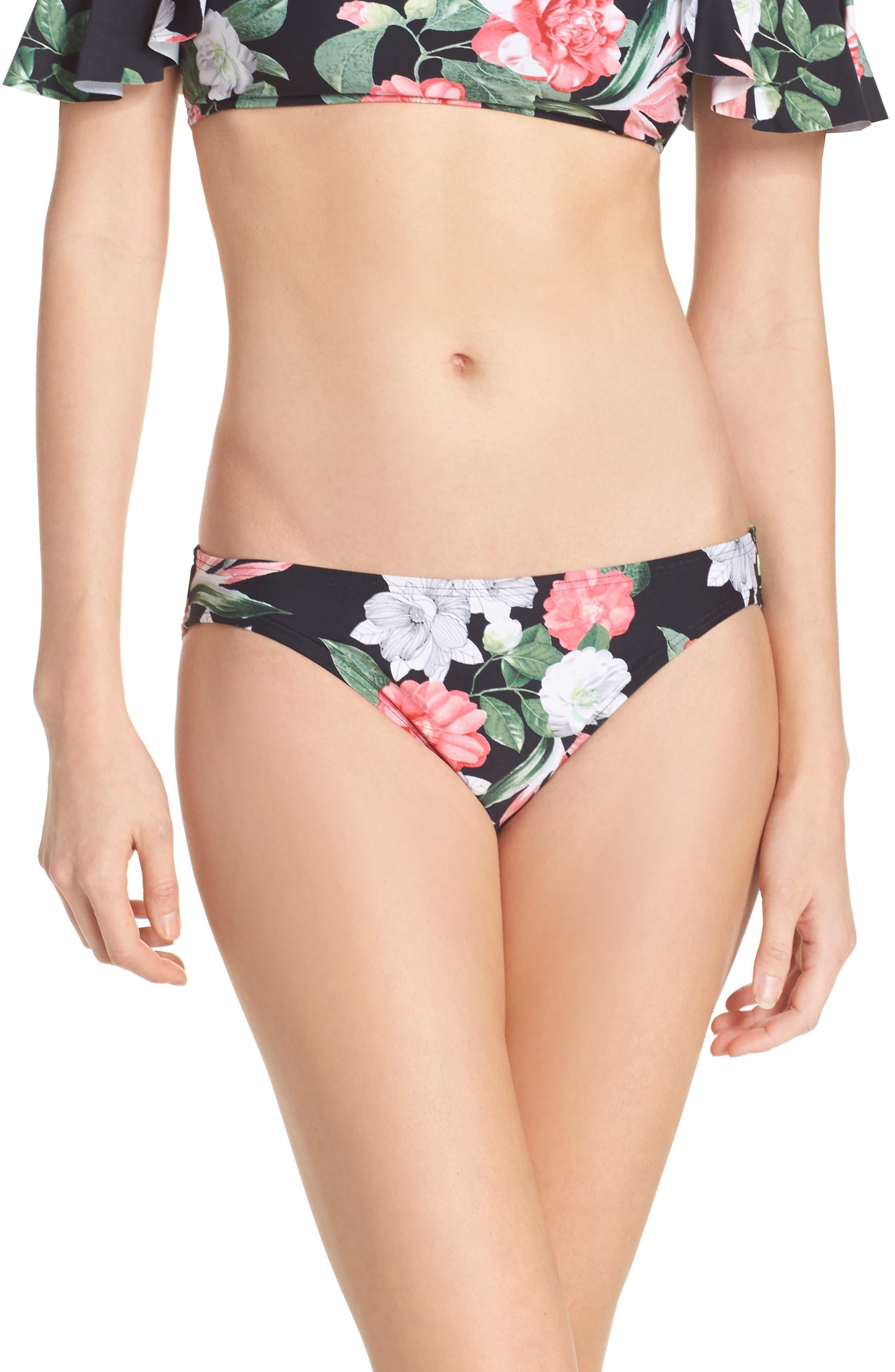 Classic Bikini Bottoms,                         Main,                         color, Black