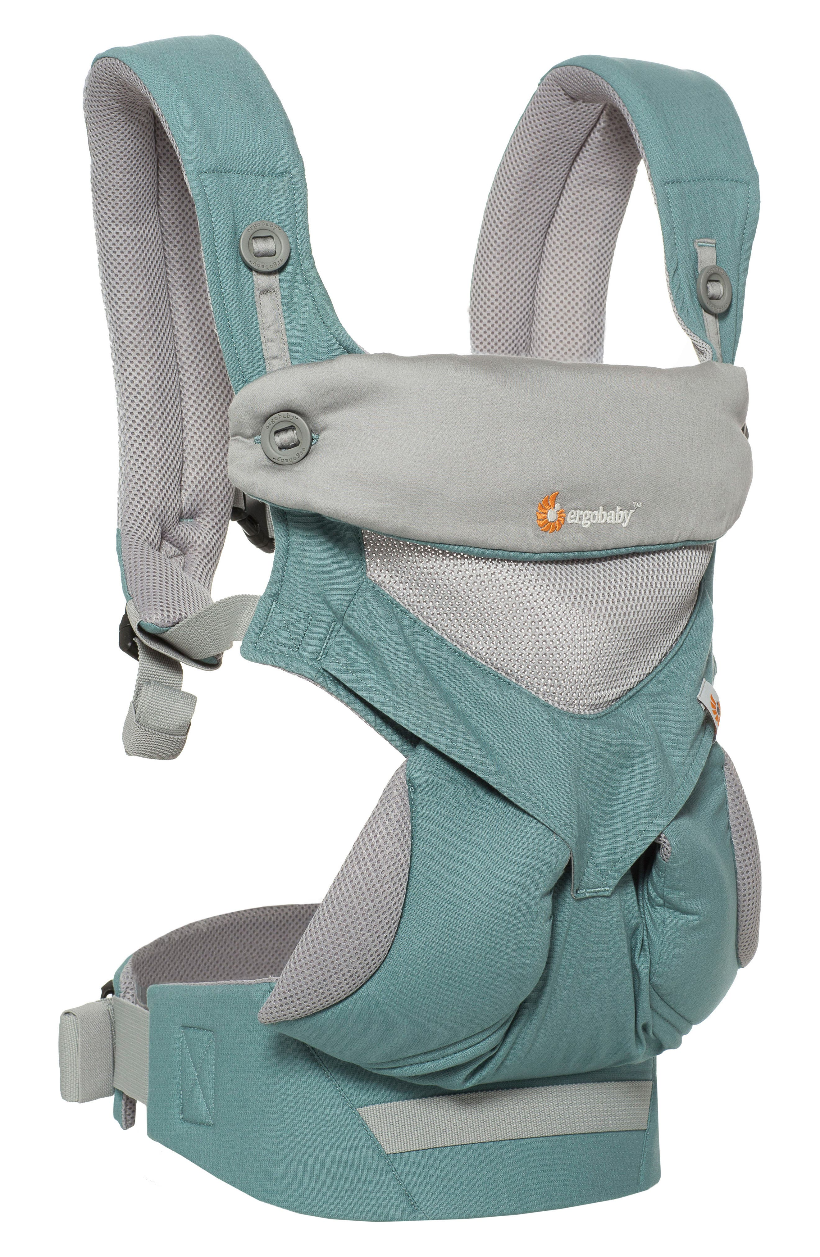 Four Position 360 - Cool Air Baby Carrier,                             Alternate thumbnail 3, color,                             Green/ Light Grey