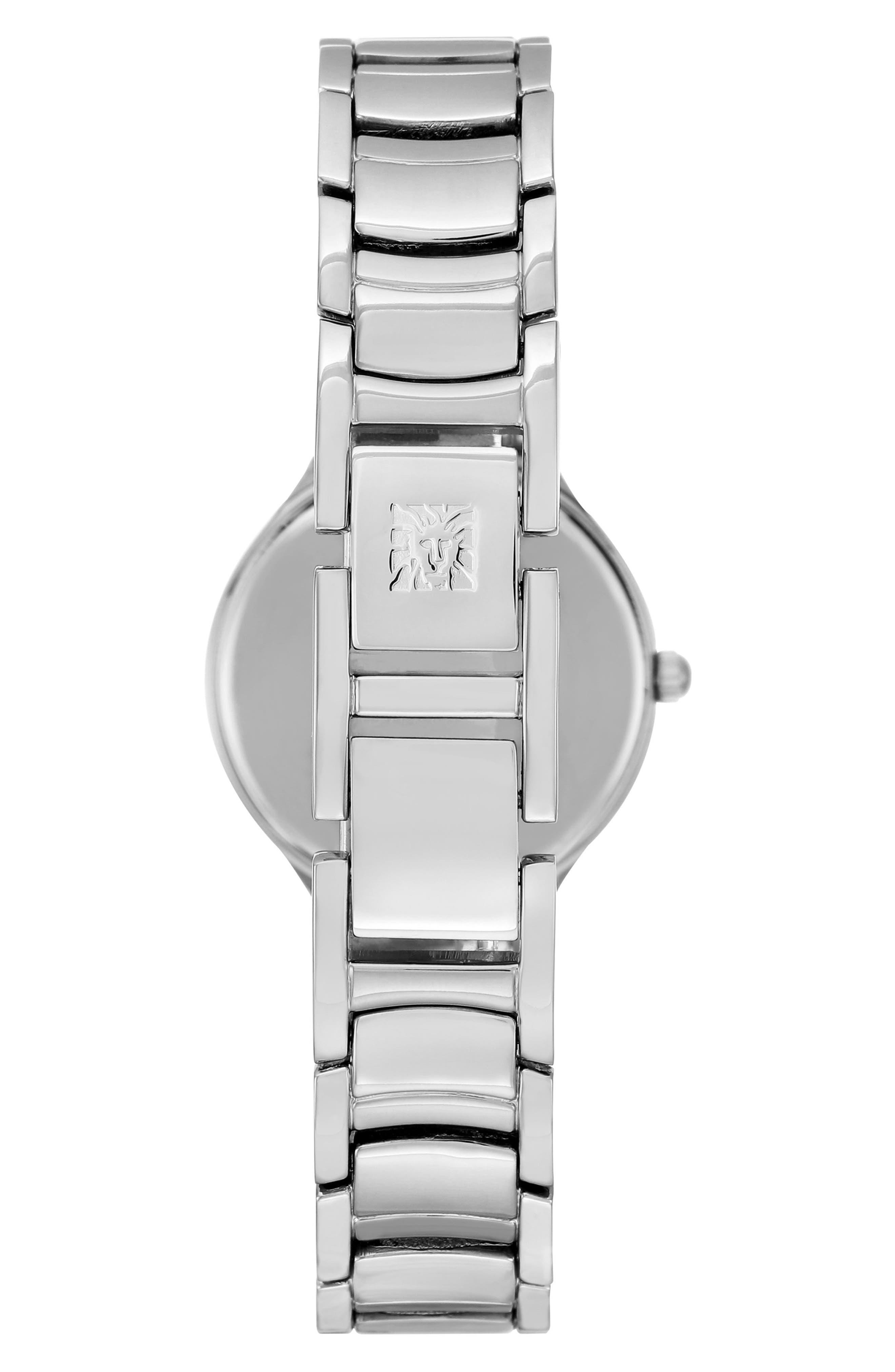 Bracelet Watch, 28mm,                             Alternate thumbnail 2, color,                             Silver