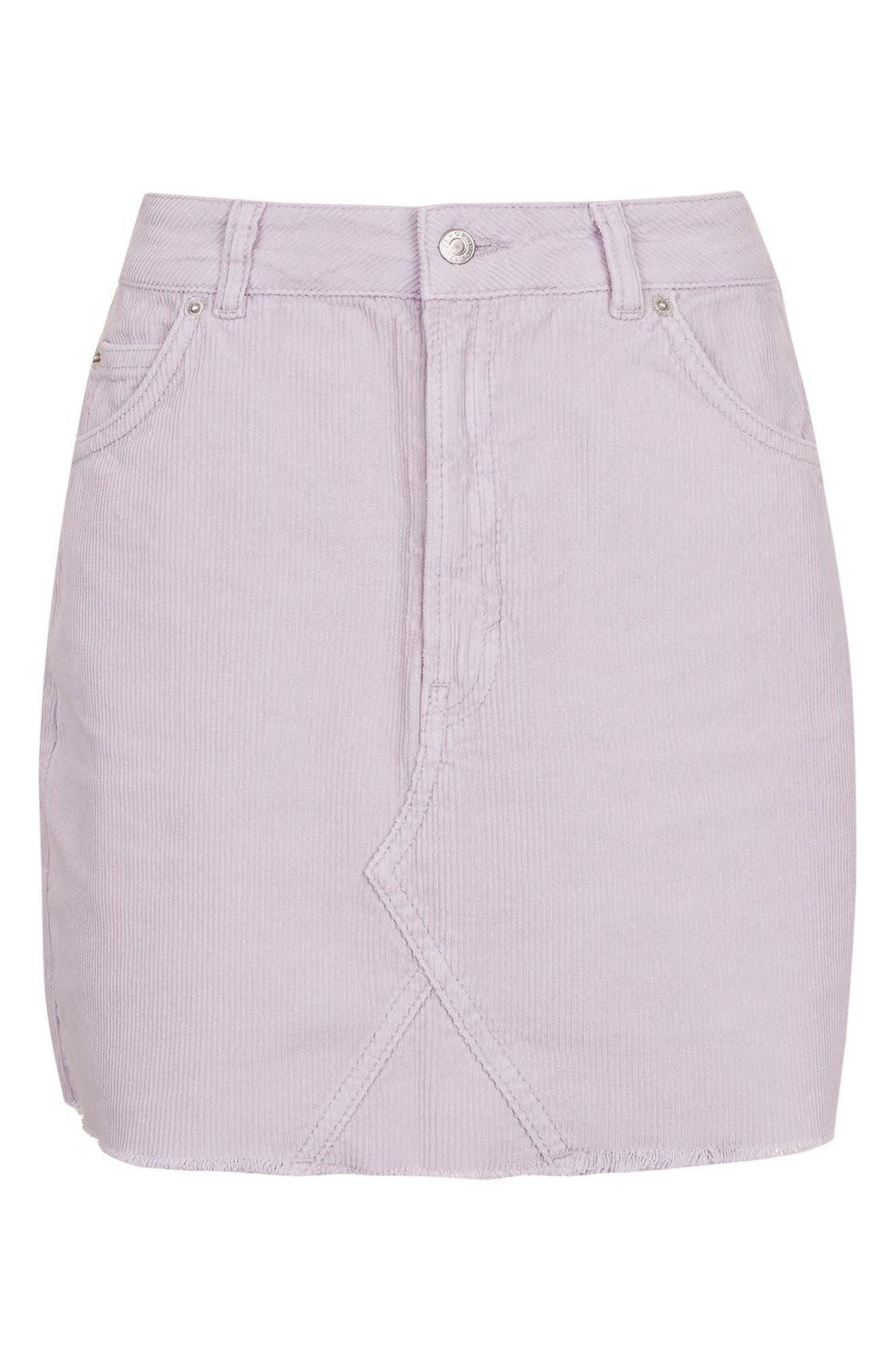 Alternate Image 5  - Topshop High Rise Corduroy Miniskirt