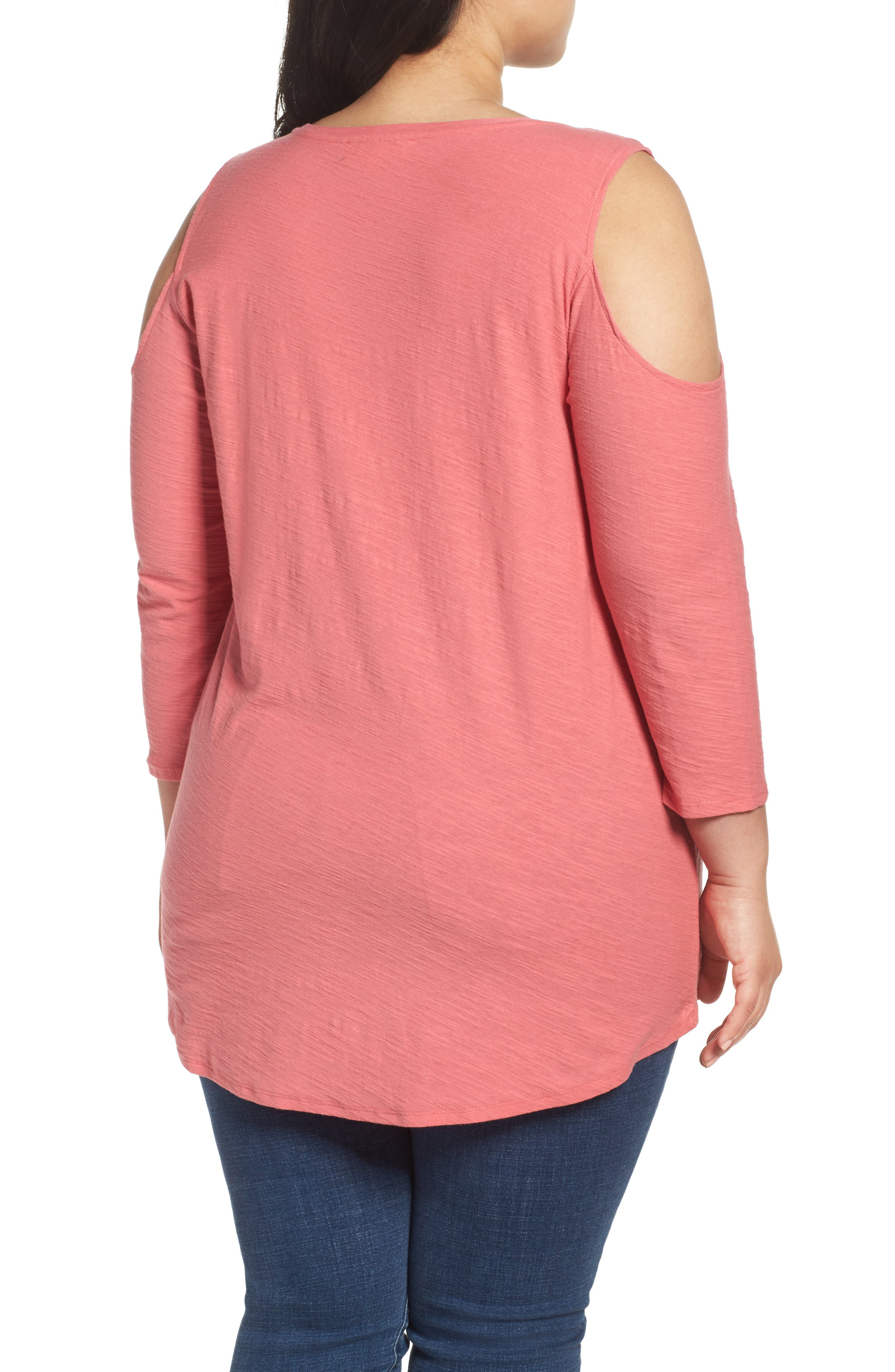 Lightweight Cold Shoulder Top,                             Alternate thumbnail 2, color,                             Rossetto
