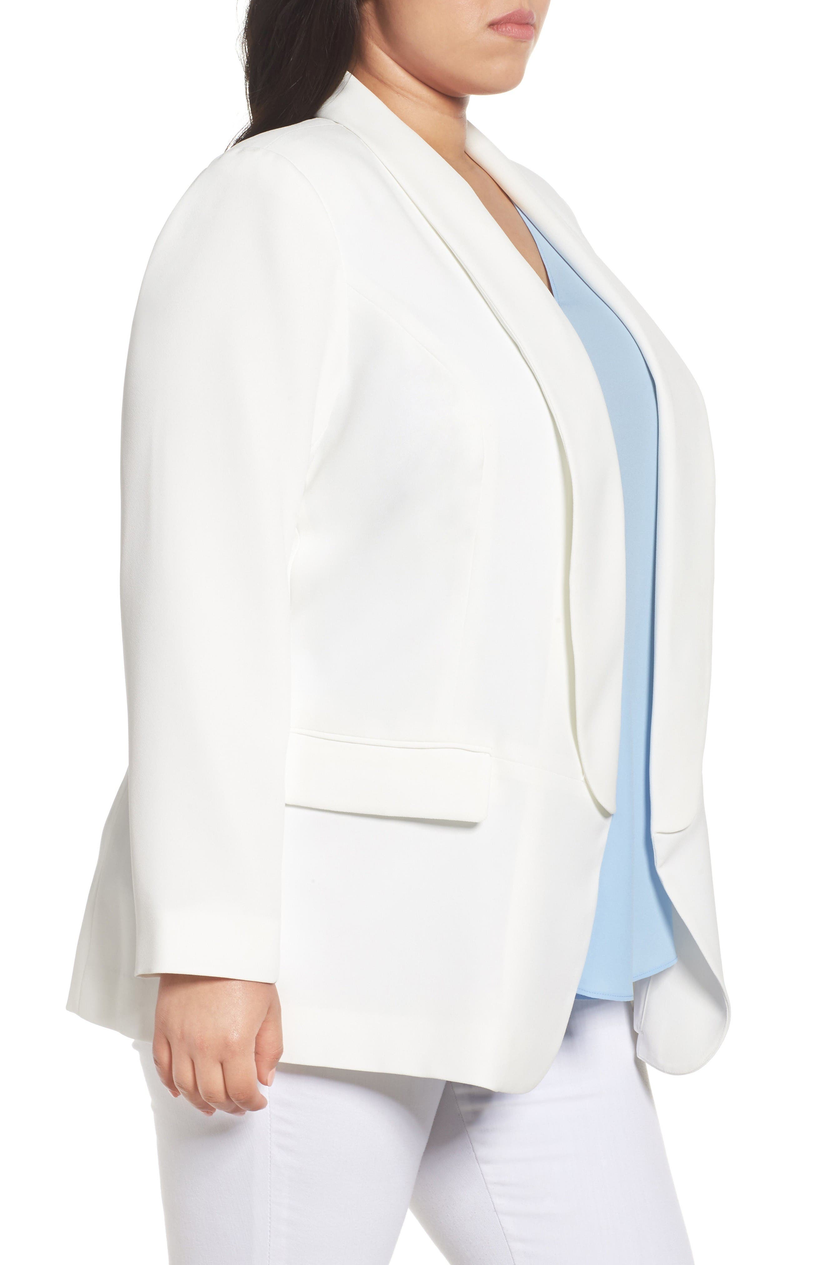 Alternate Image 3  - Vince Camuto Open Front Blazer (Plus Size)