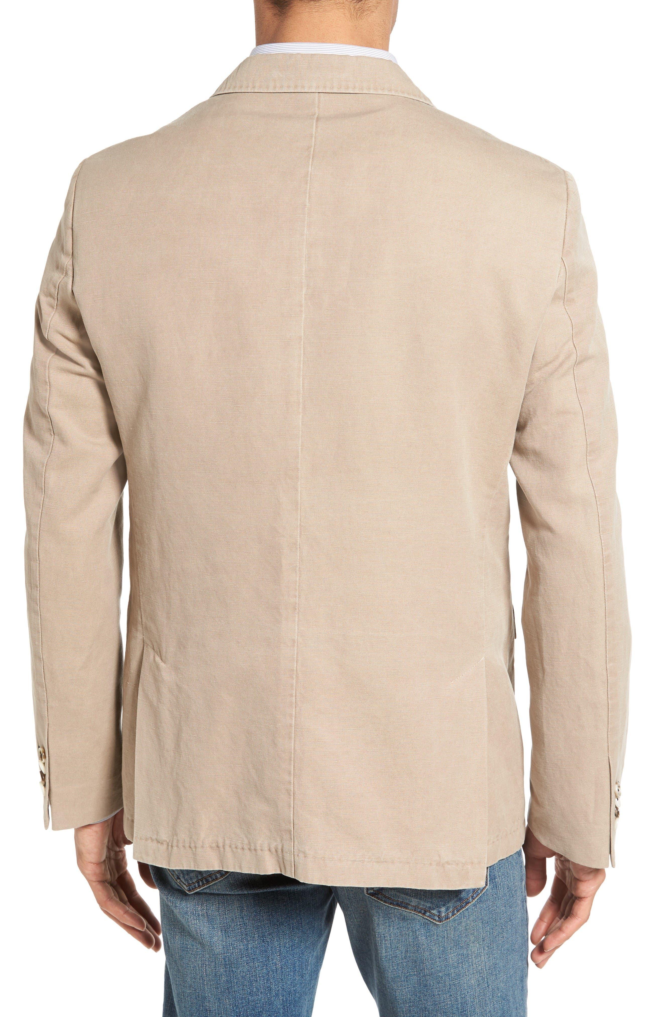 Alternate Image 2  - Sand Trim Fit Cotton & Linen Blazer