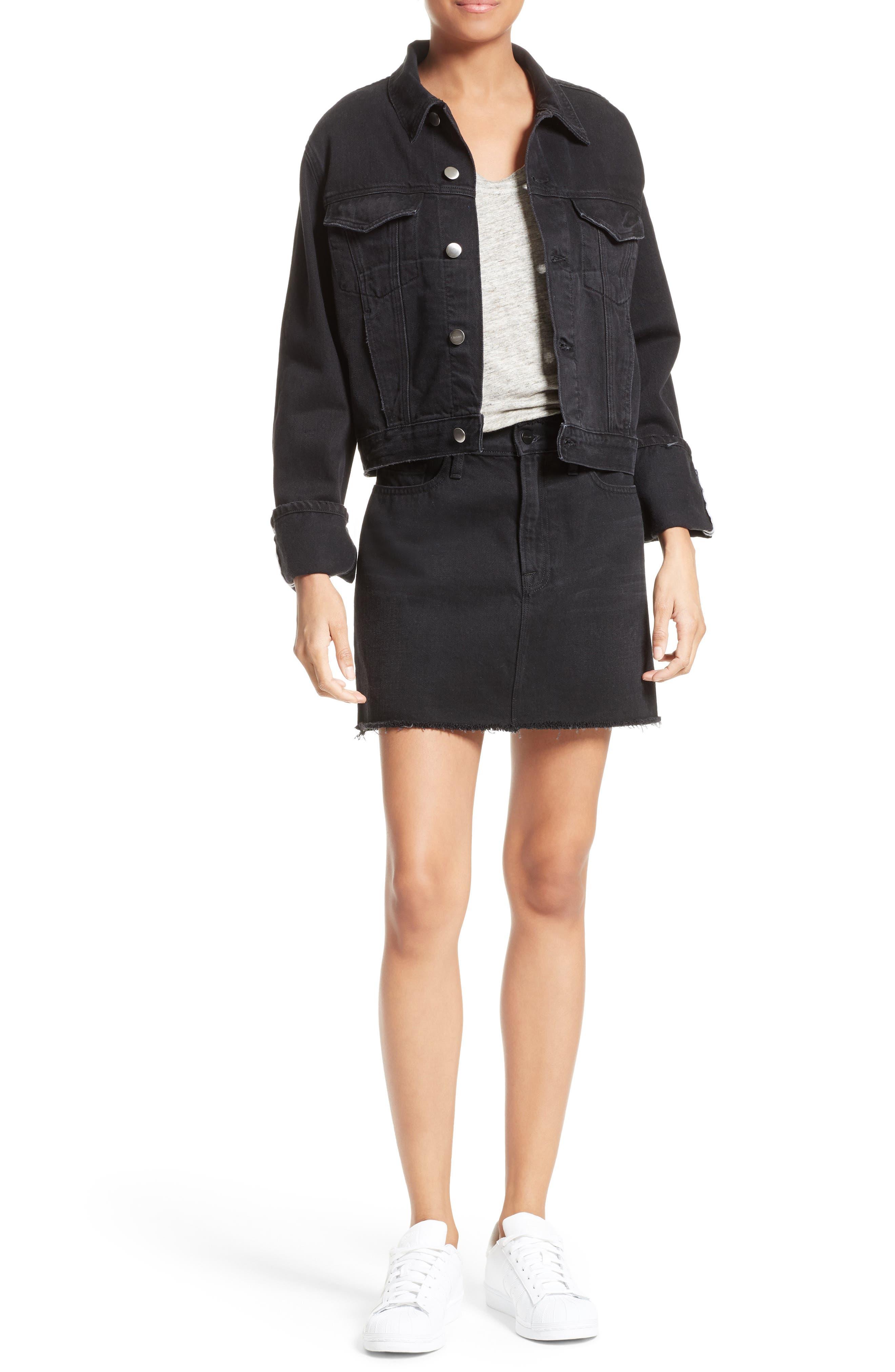 Alternate Image 2  - FRAME Le Mini Denim Skirt