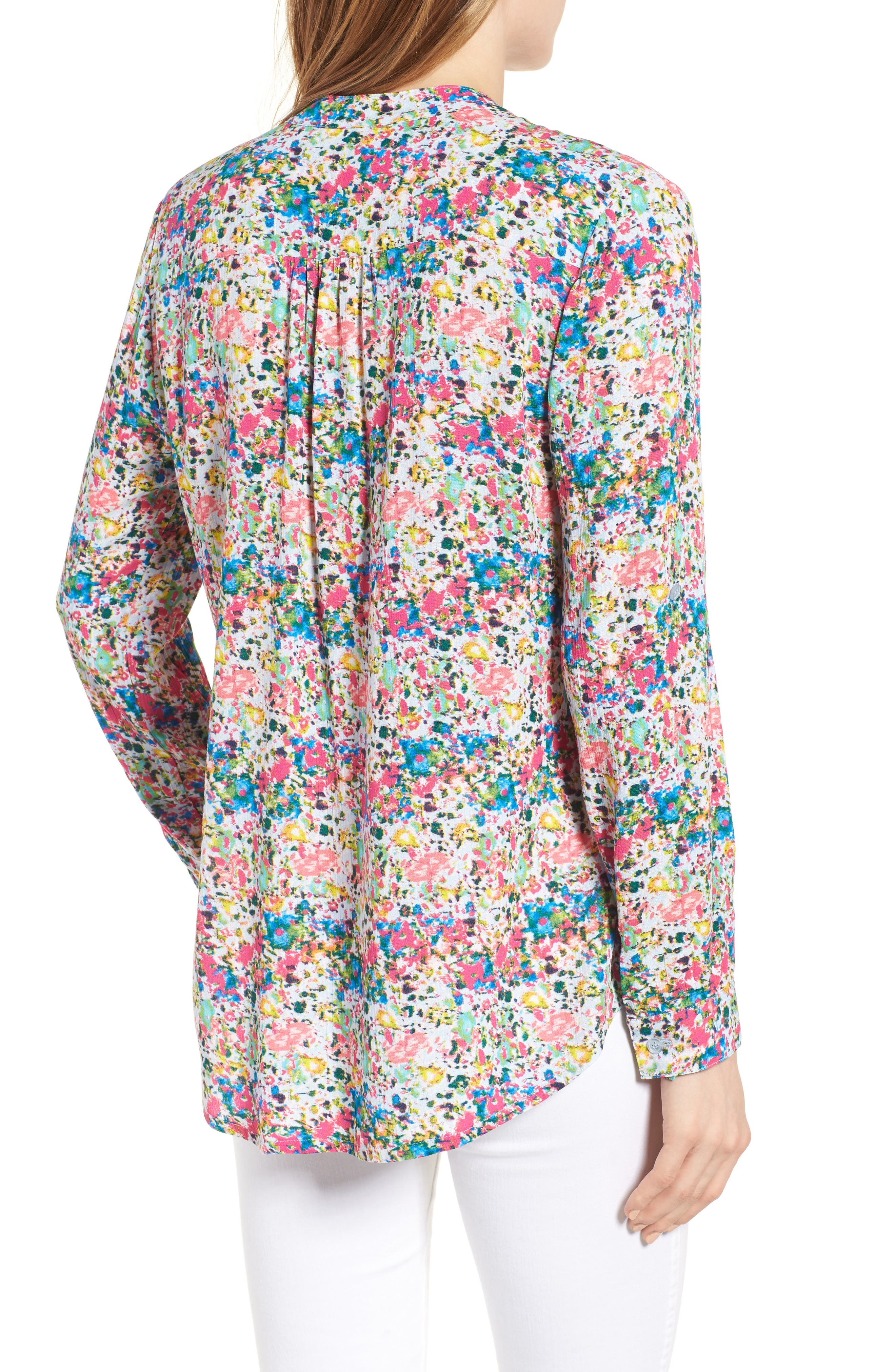 Alternate Image 2  - KUT from the Kloth 'Jasmine' Floral Print Roll Sleeve Blouse