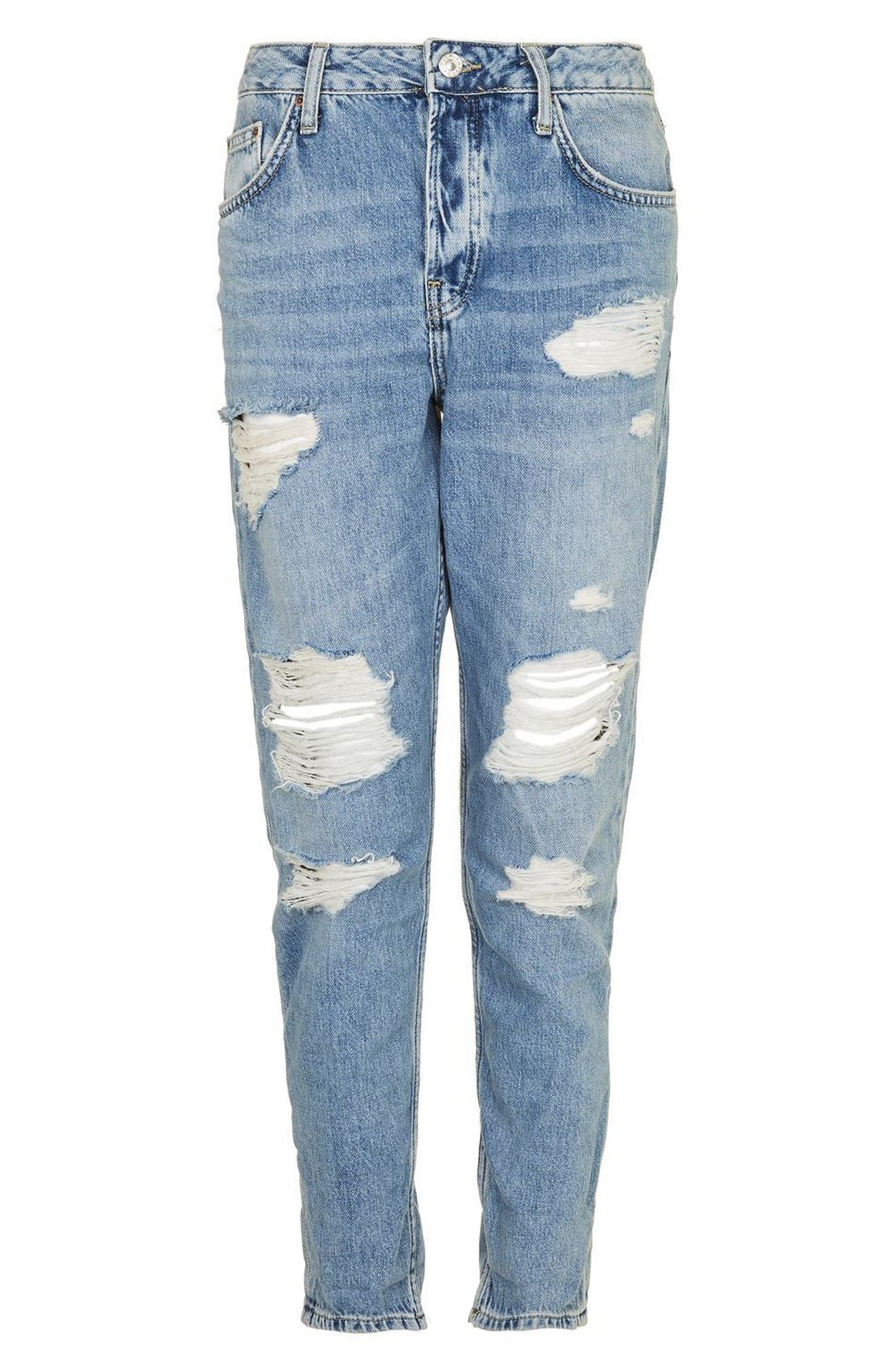 Alternate Image 4  - Topshop Hayden Super Ripped Boyfriend Jeans