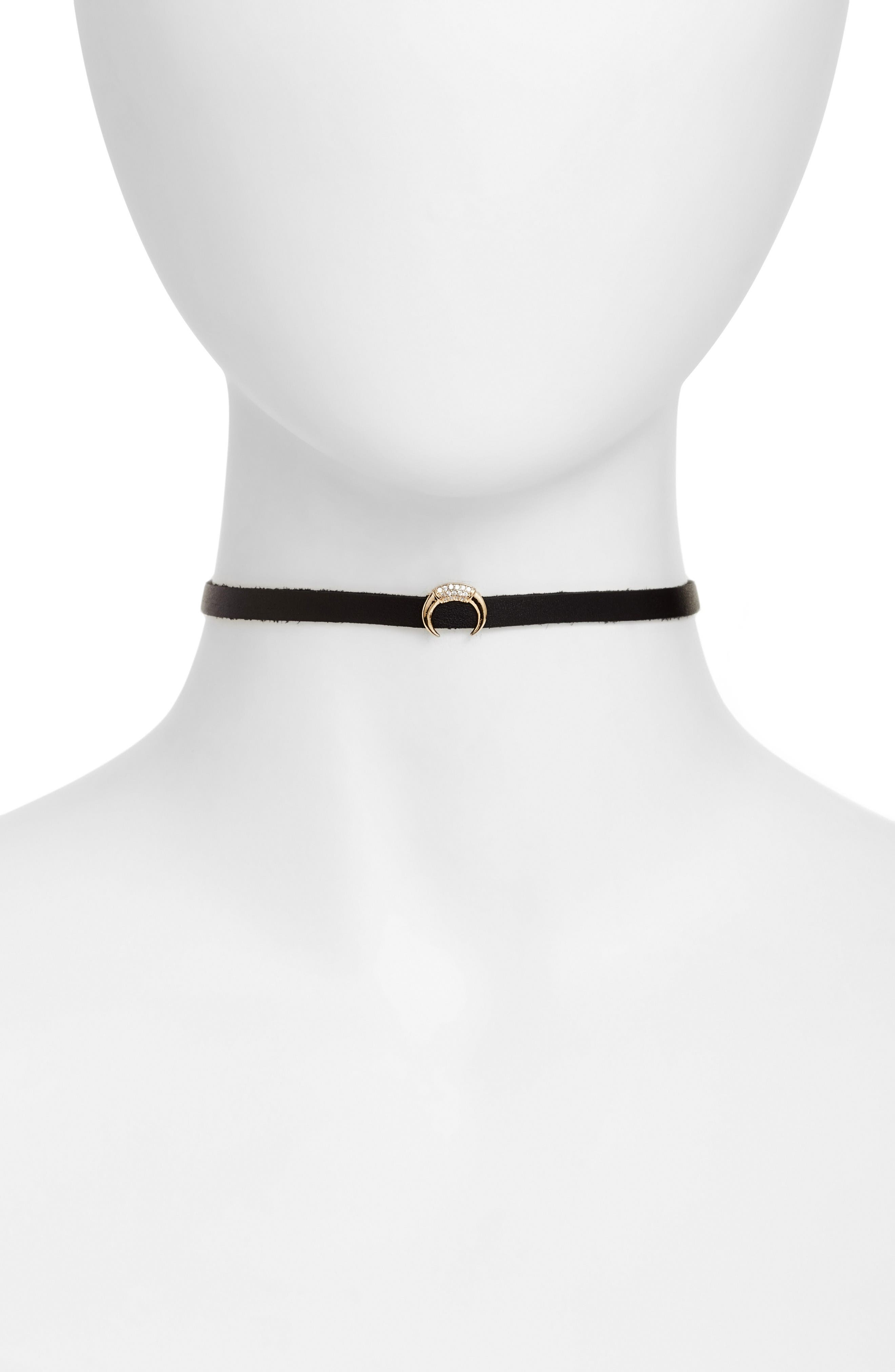 Typhon Choker,                         Main,                         color, Gold/ Black/ Clear