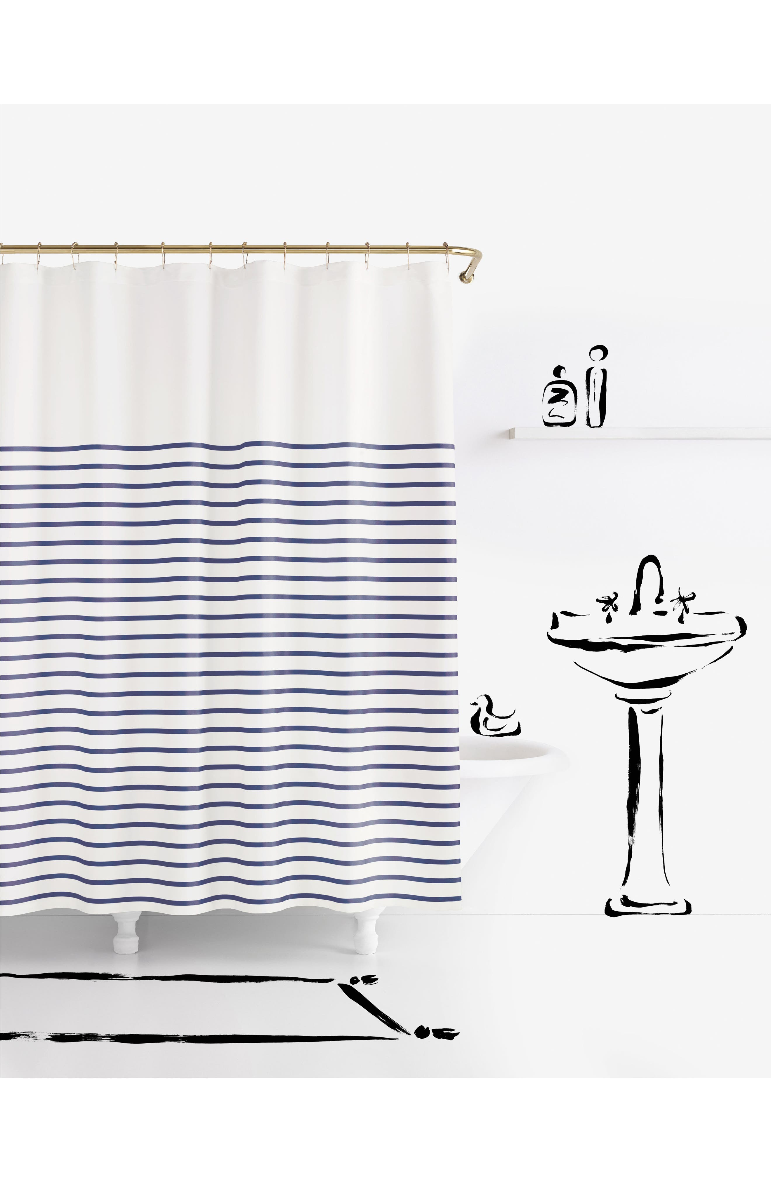 kate spade new york 'harbour stripe' shower curtain
