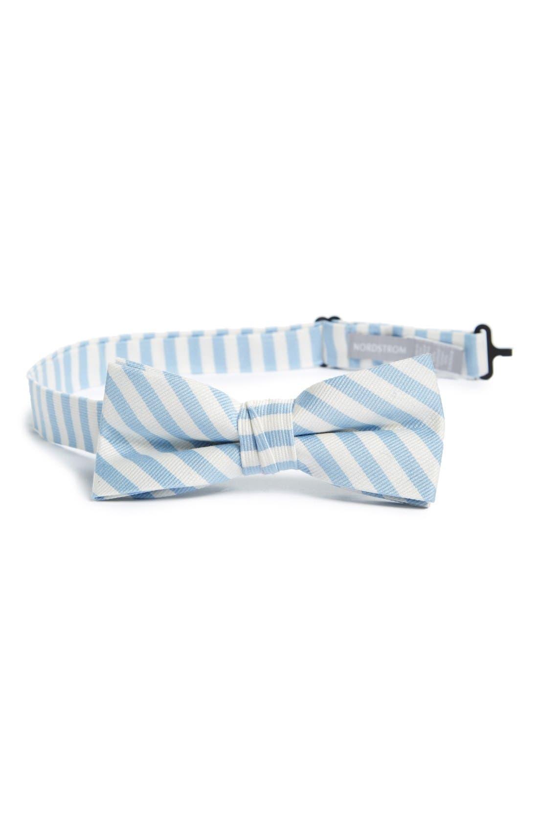 Nordstrom Stripe Cotton & Silk Bow Tie (Big Boys)