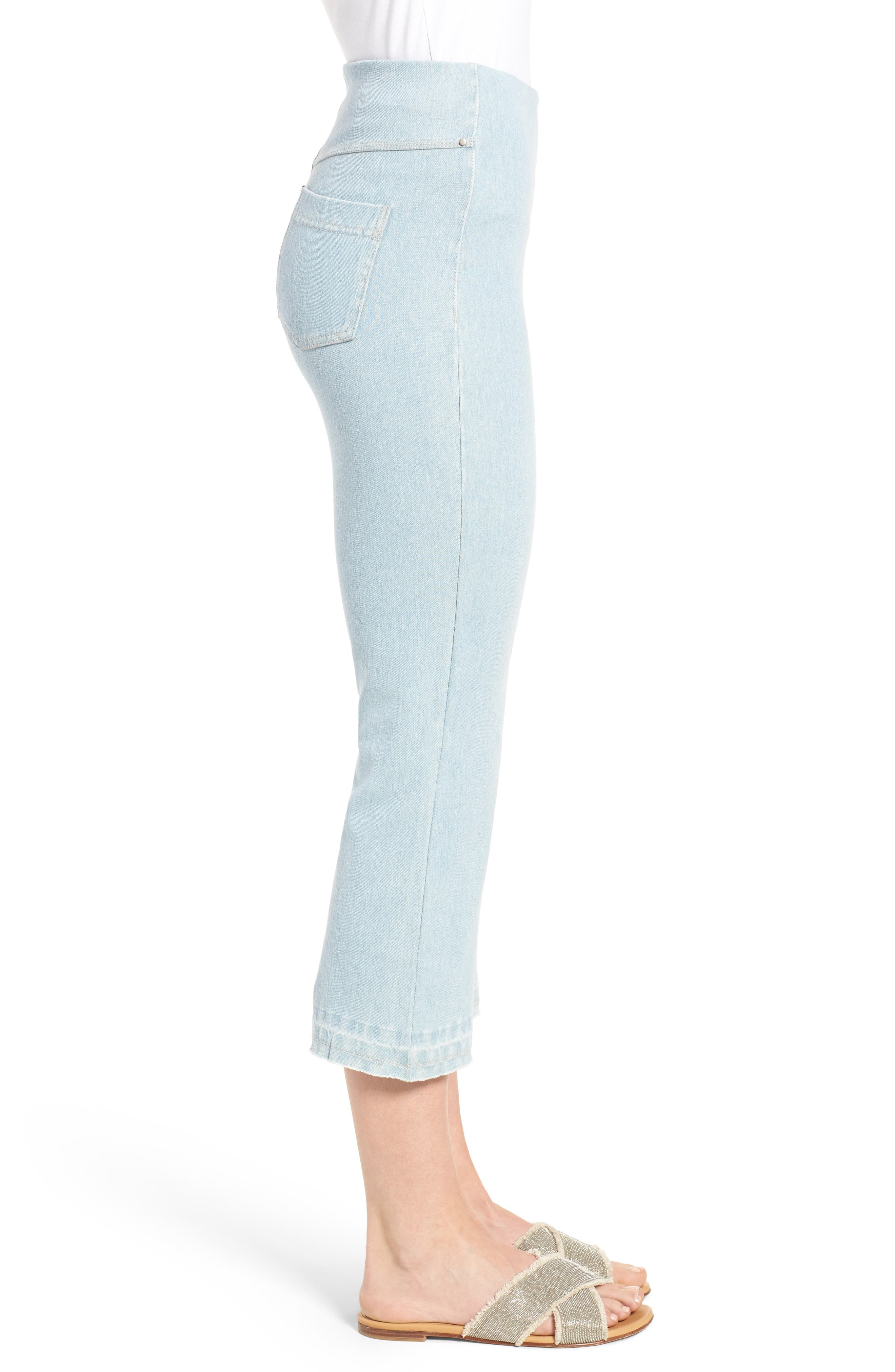 High Rise Flare Crop Leggings,                             Alternate thumbnail 3, color,                             Mineral Wash
