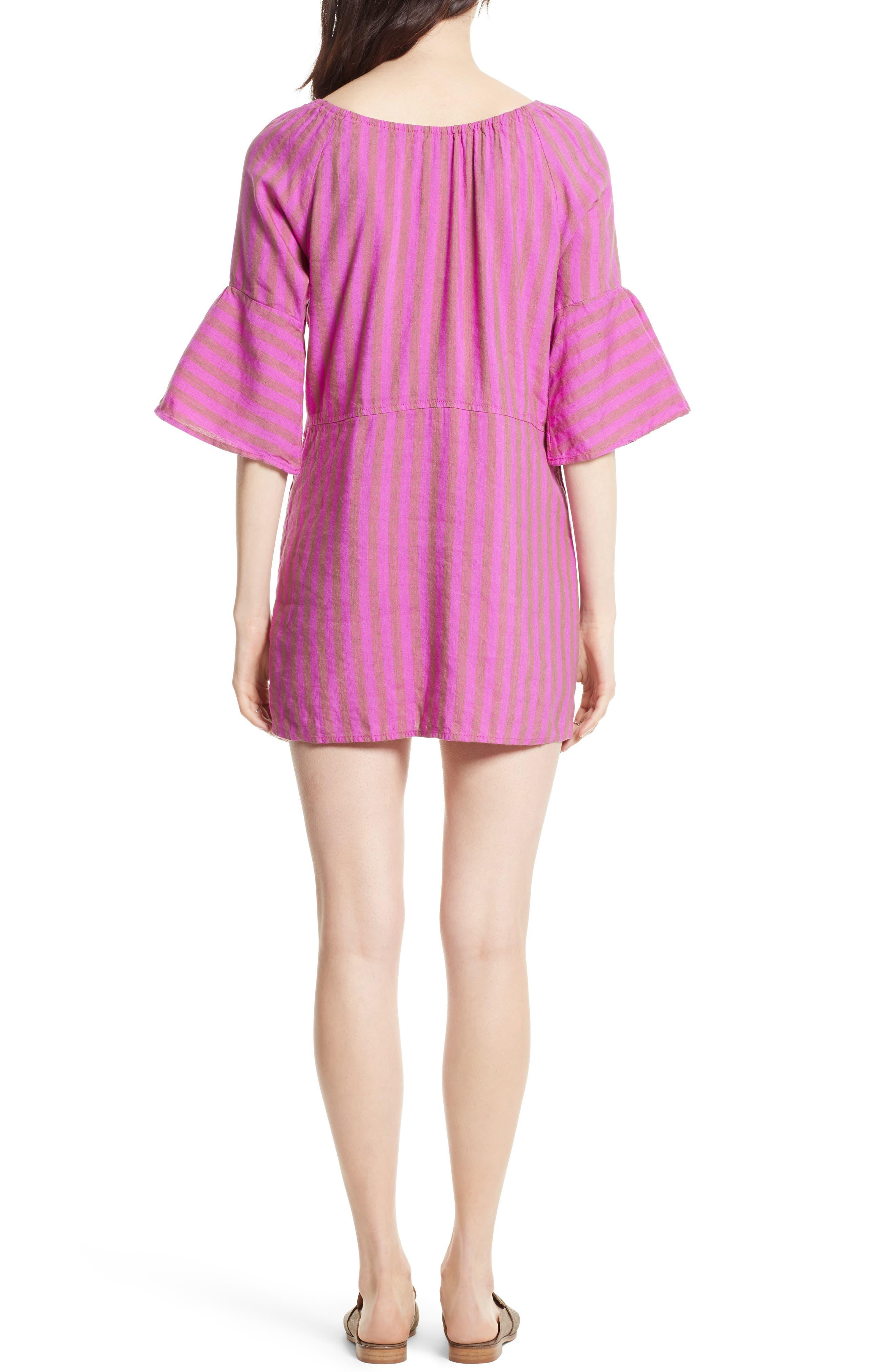 Folk Town Minidress,                             Alternate thumbnail 2, color,                             Purple Combo