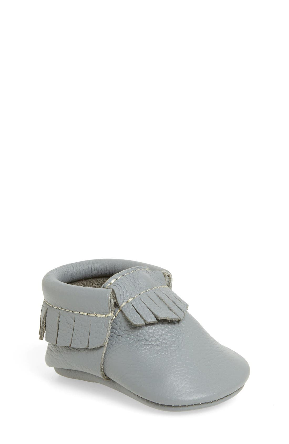 Main Image - Freshly Picked Leather Moccasin (Baby & Walker)