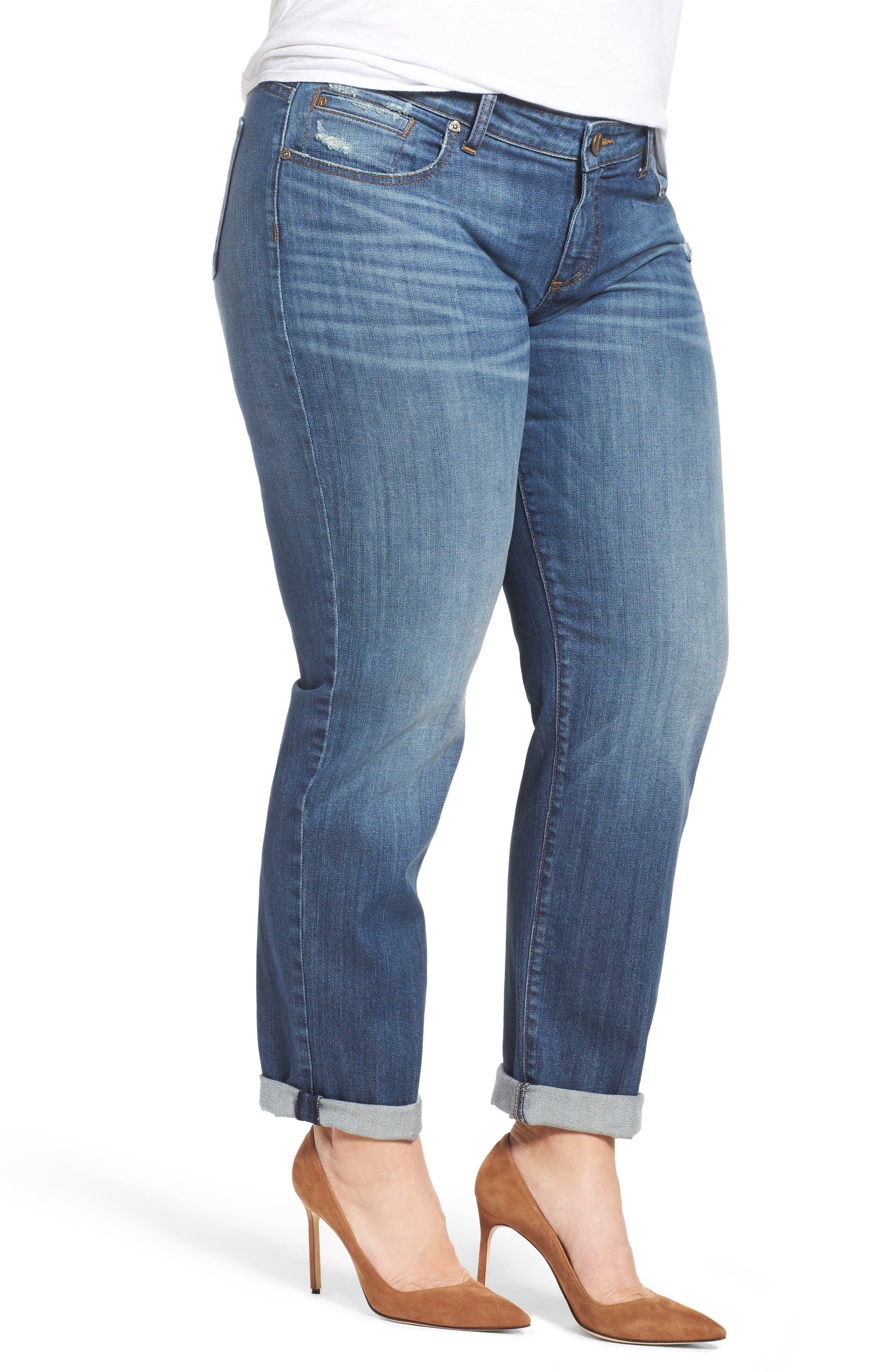 Alternate Image 4  - KUT from the Kloth Catherine Boyfriend Jeans (Doubtless) (Plus Size)