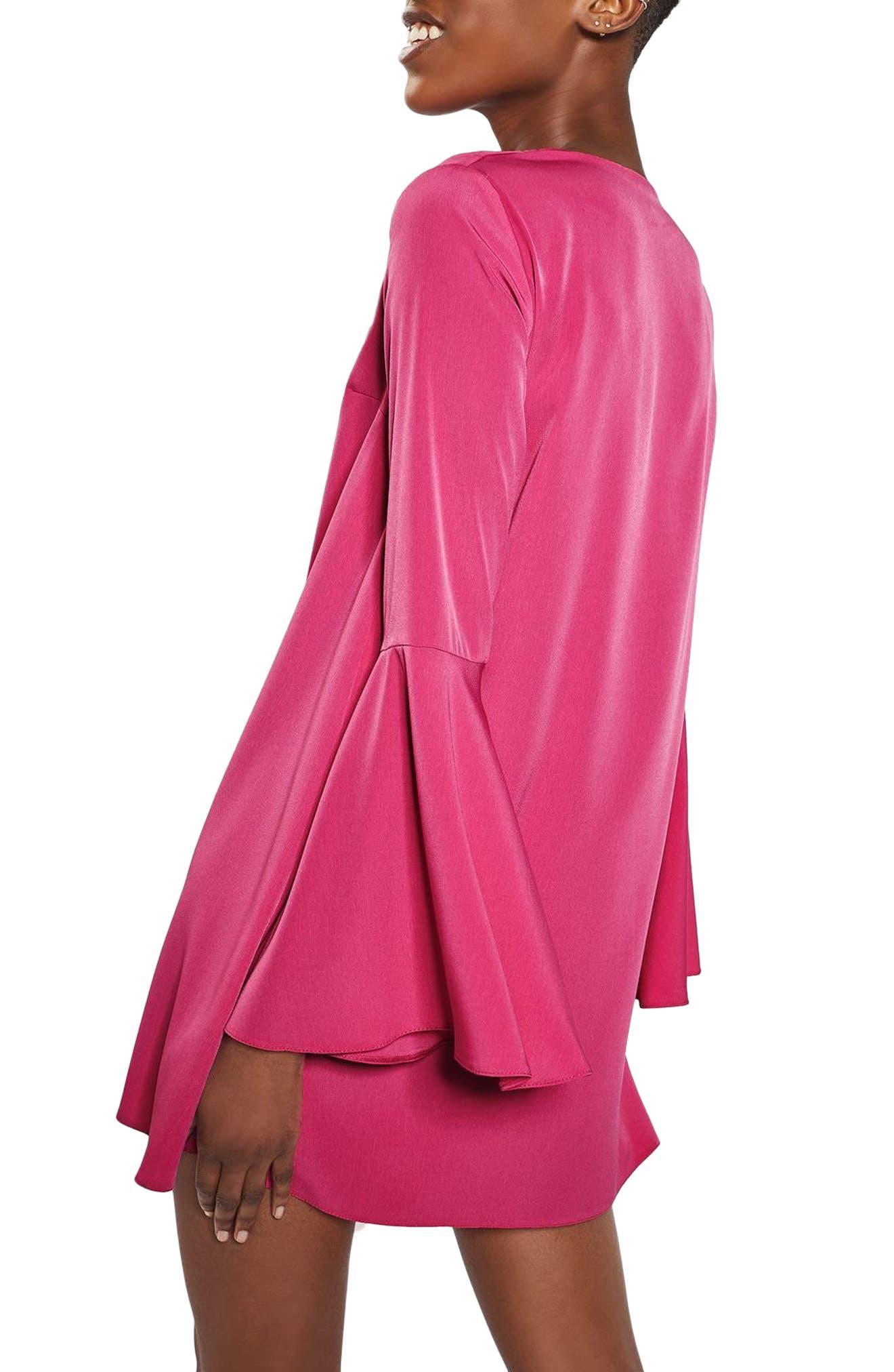 Alternate Image 3  - Topshop Flute Sleeve Shift Tunic Dress
