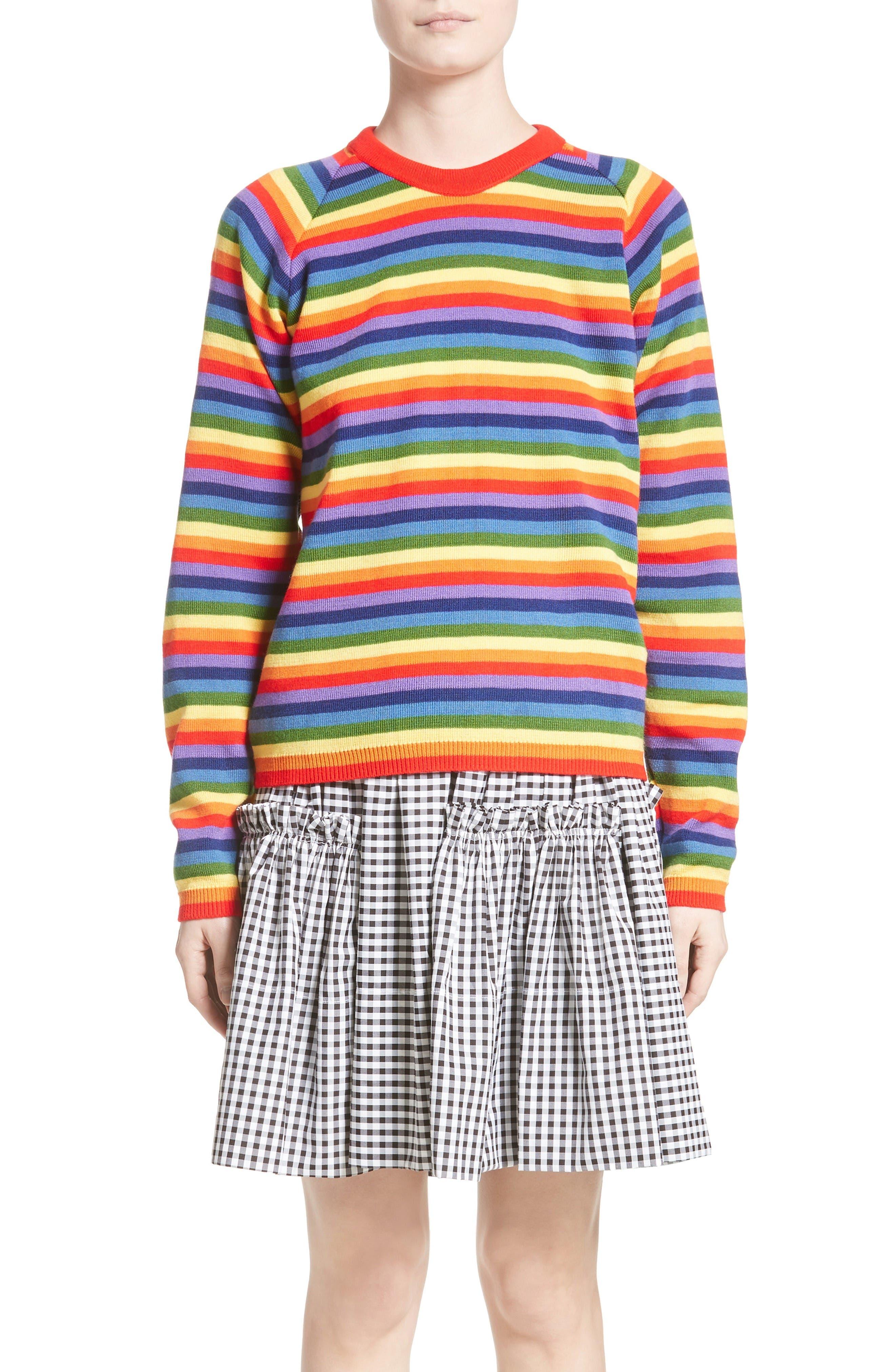 Charlie Rainbow Sweater,                             Main thumbnail 1, color,                             Rainbow