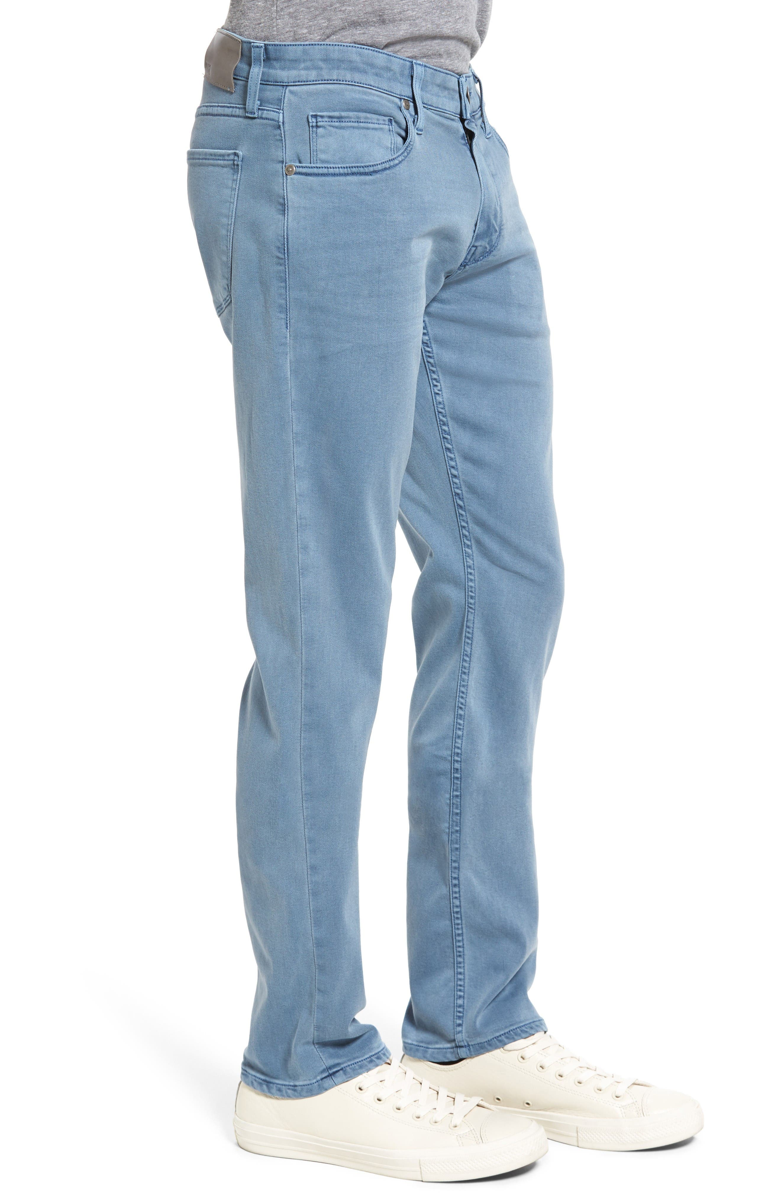 Transcend - Lennox Slim Fit Jeans,                             Alternate thumbnail 3, color,                             Seascape