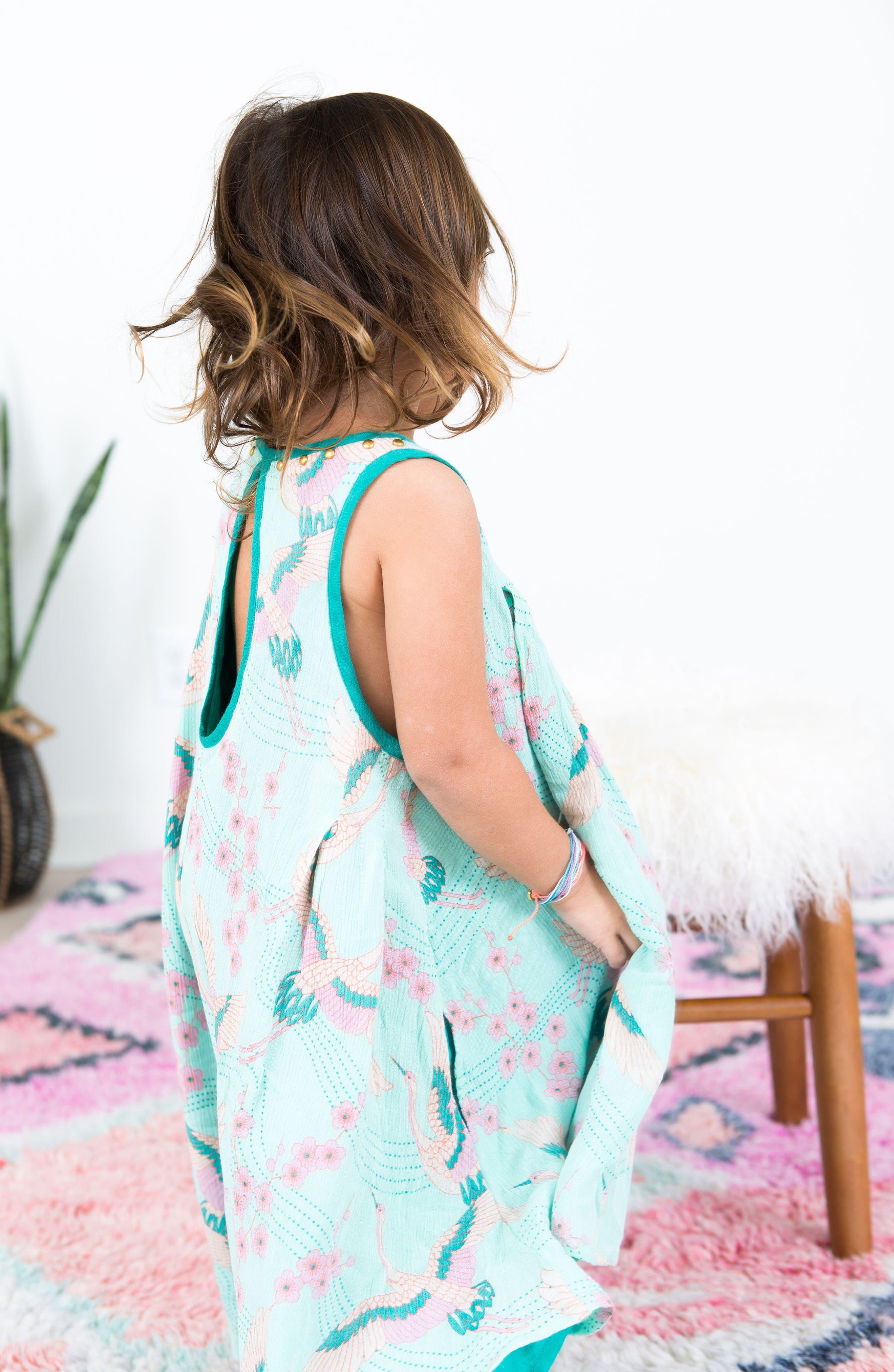 Alternate Image 2  - BOWIE X JAMES Print Trapeze Dress (Toddler Girls, Little Girls & Big Girls)